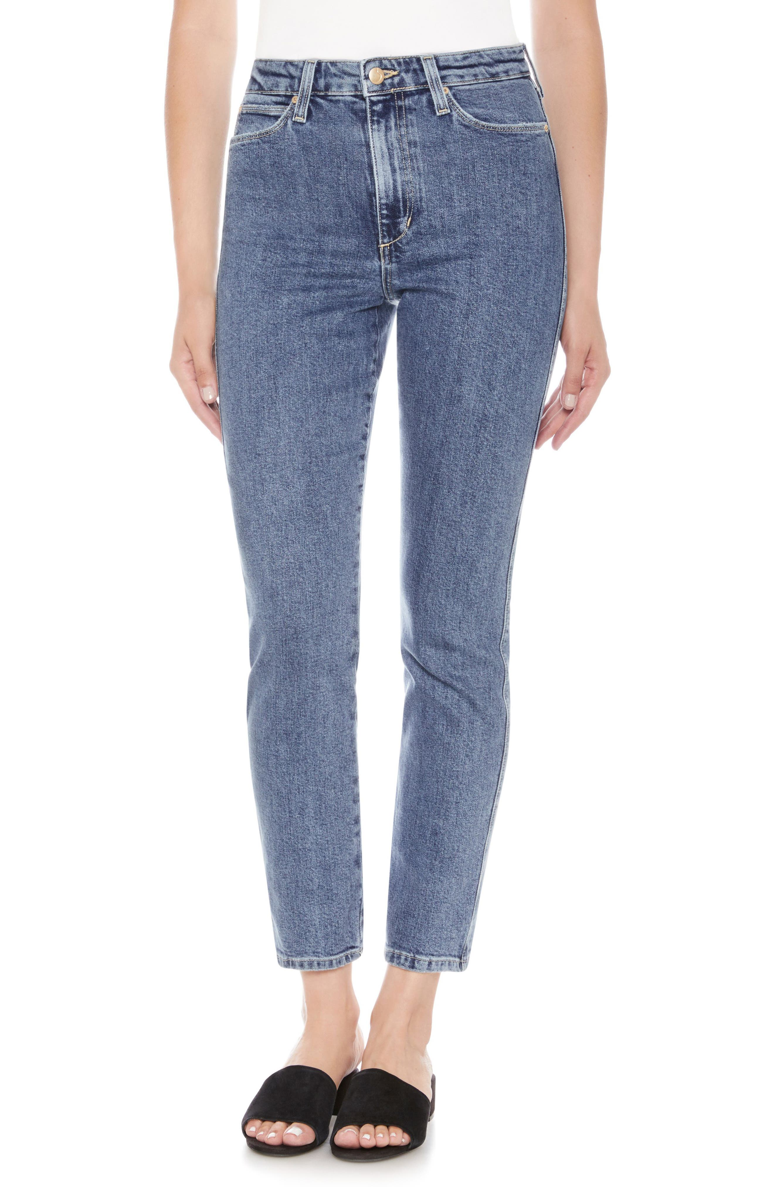 Kass Ankle Skinny Jeans,                             Main thumbnail 1, color,                             ALAIA