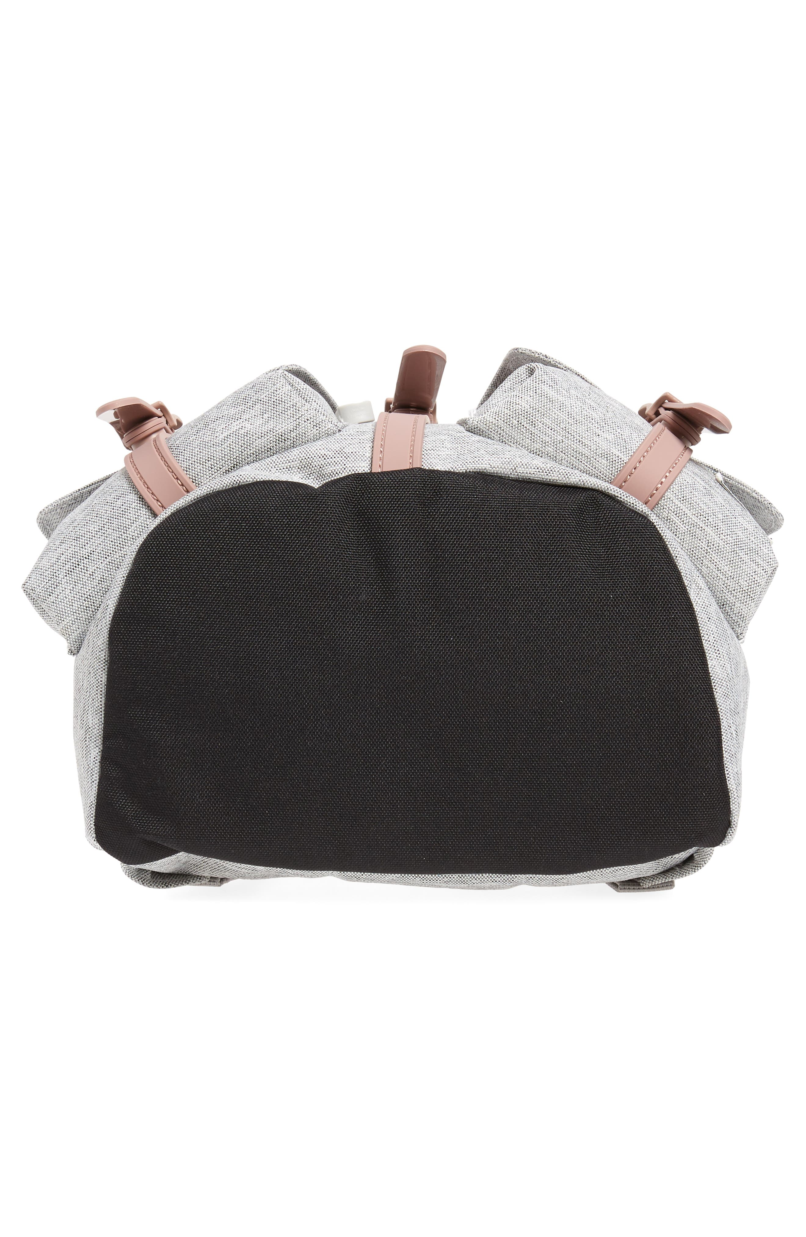 X-Small Dawson Backpack,                             Alternate thumbnail 6, color,                             LIGHT GREY/ ASH ROSE/ BLACK