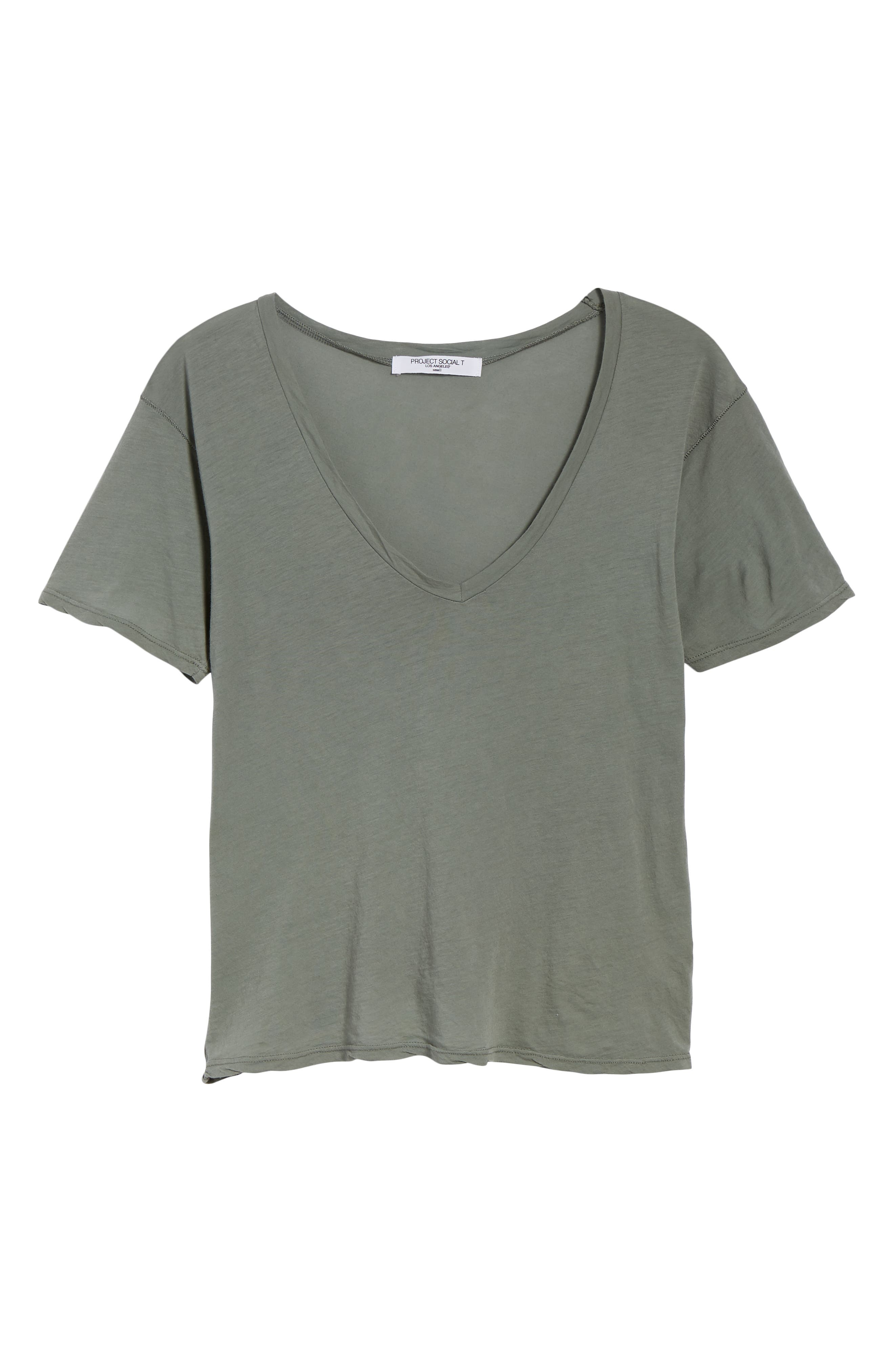PROJECT SOCIAL T,                             The Softest V-Neck Tee,                             Alternate thumbnail 6, color,                             363