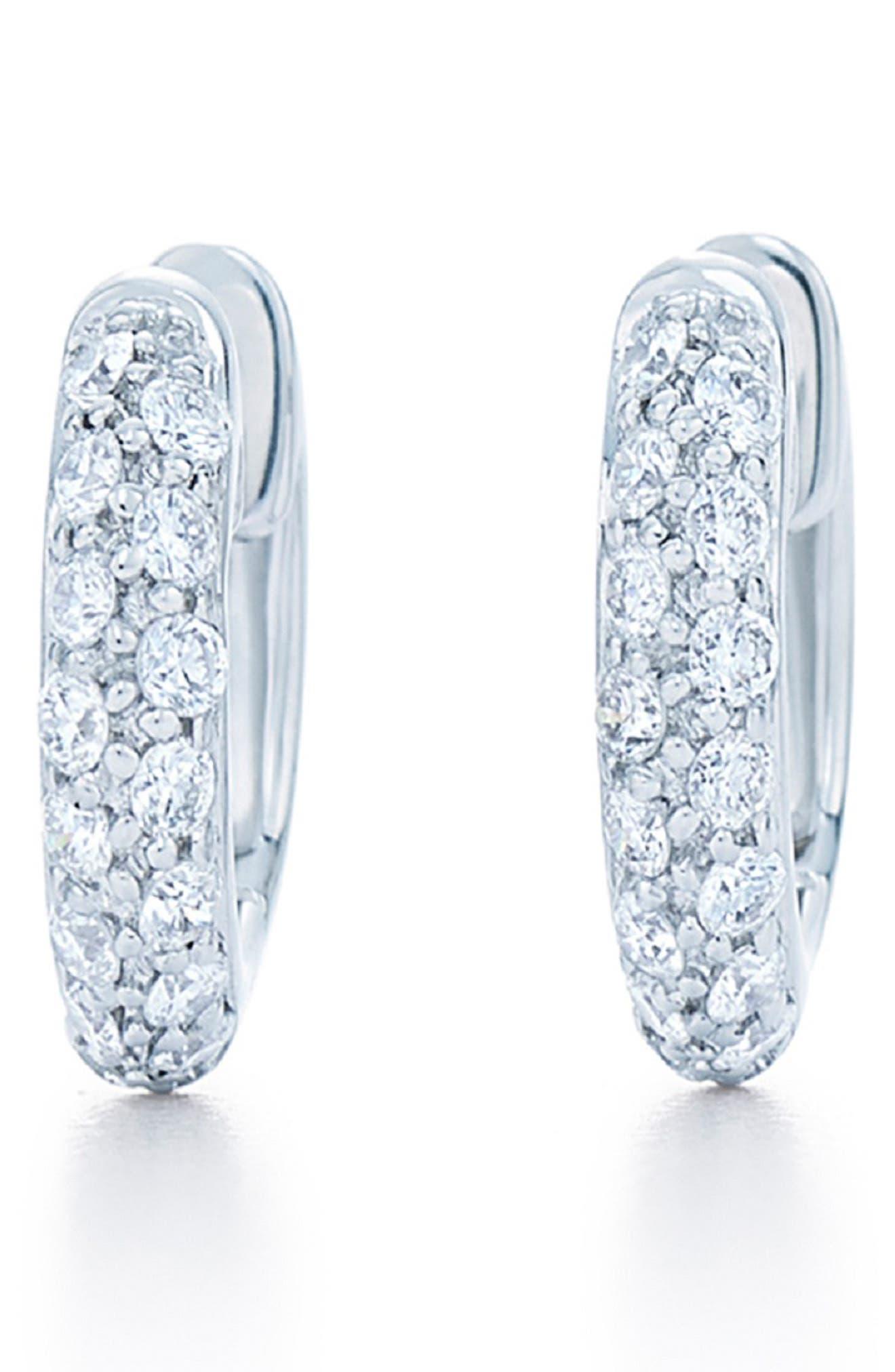 Diamond Pavé Hoop Earrings,                             Main thumbnail 1, color,                             711