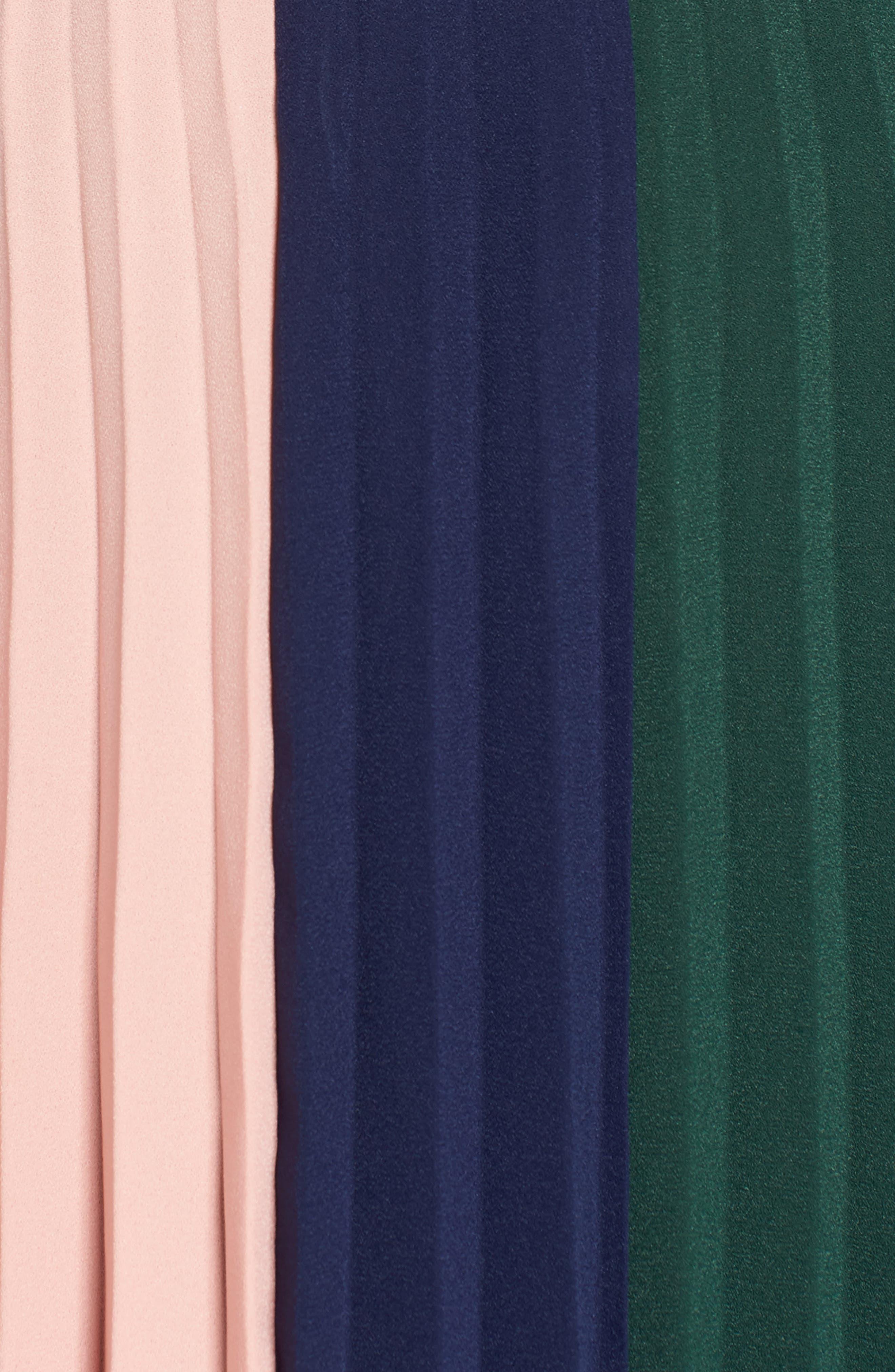 Colorblock Midi Dress,                             Alternate thumbnail 6, color,                             410