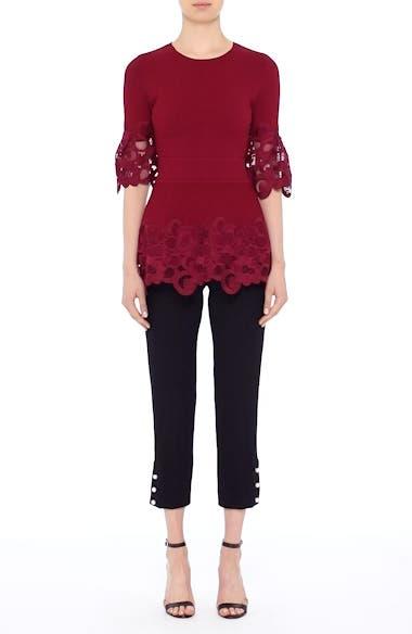 Lace Hem Knit Top, video thumbnail