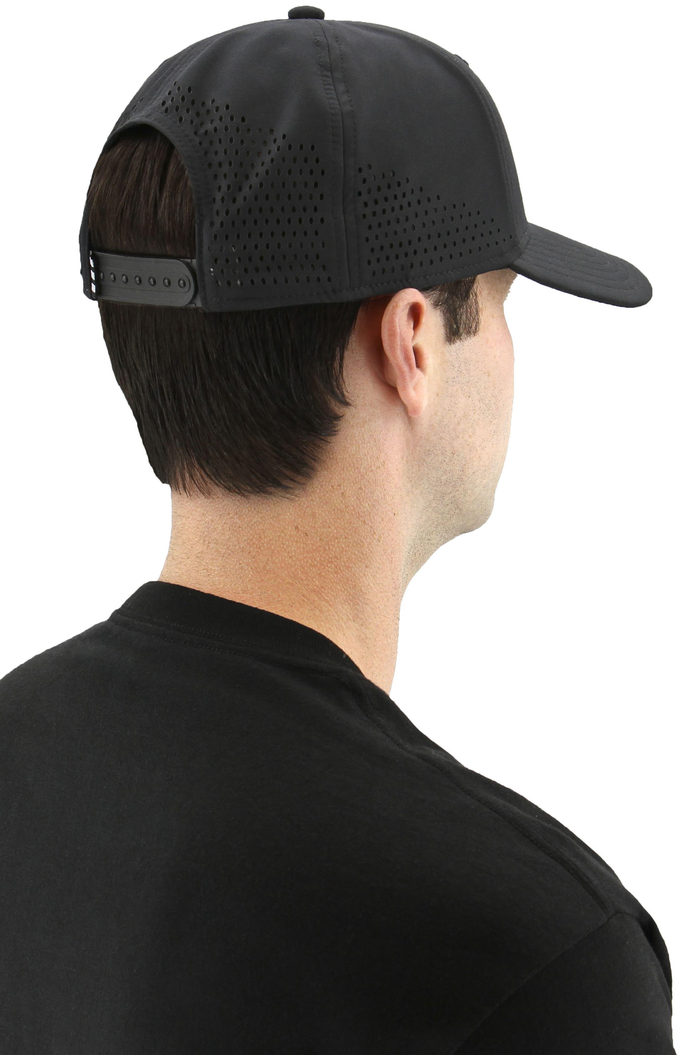 Tech Ventilated Baseball Cap,                             Alternate thumbnail 4, color,                             001
