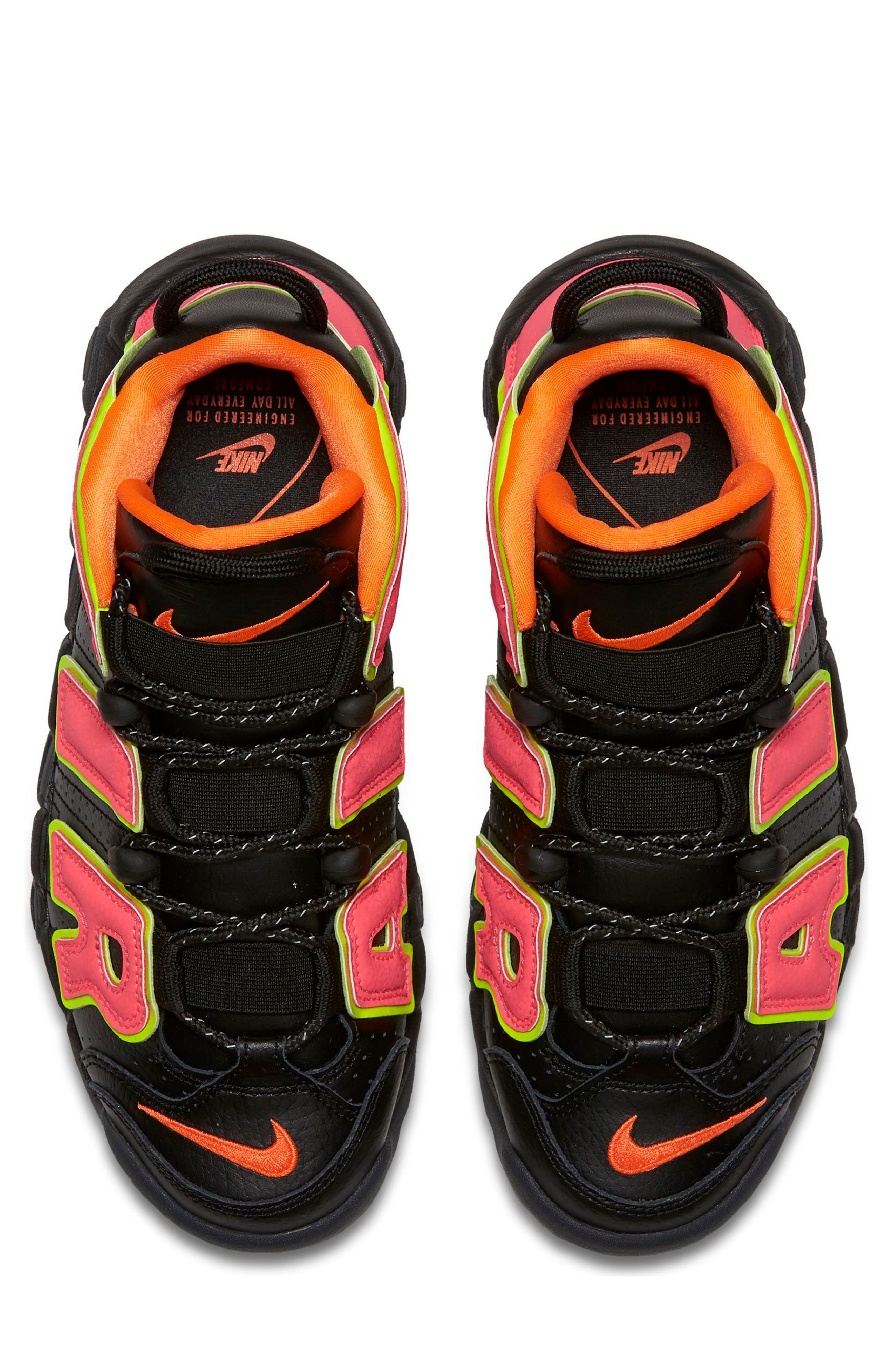 Air More Uptempo Sneaker,                             Alternate thumbnail 5, color,                             002