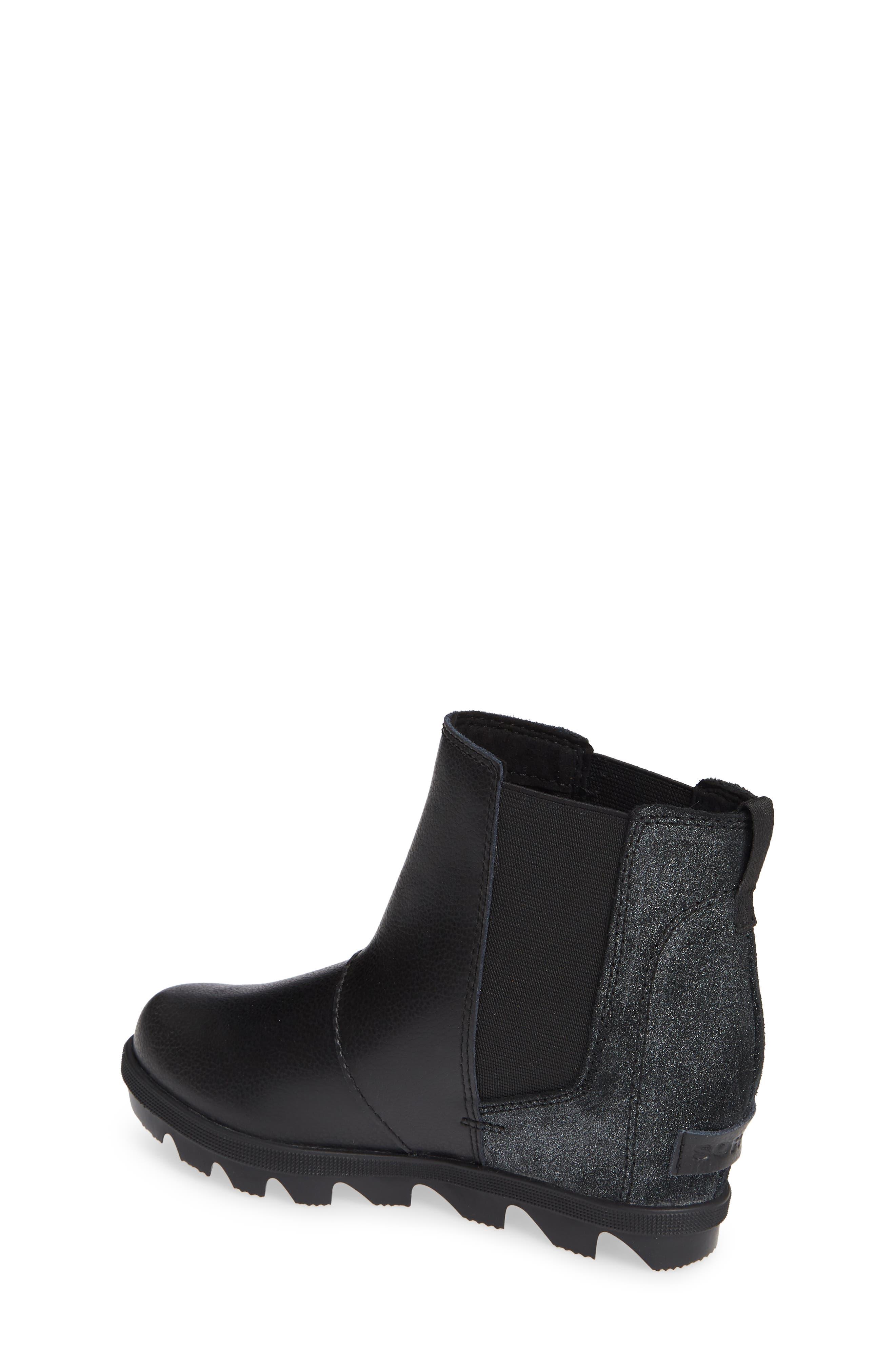 Joan of Arc II Waterproof Wedge Chelsea Boot,                             Alternate thumbnail 2, color,                             BLACK