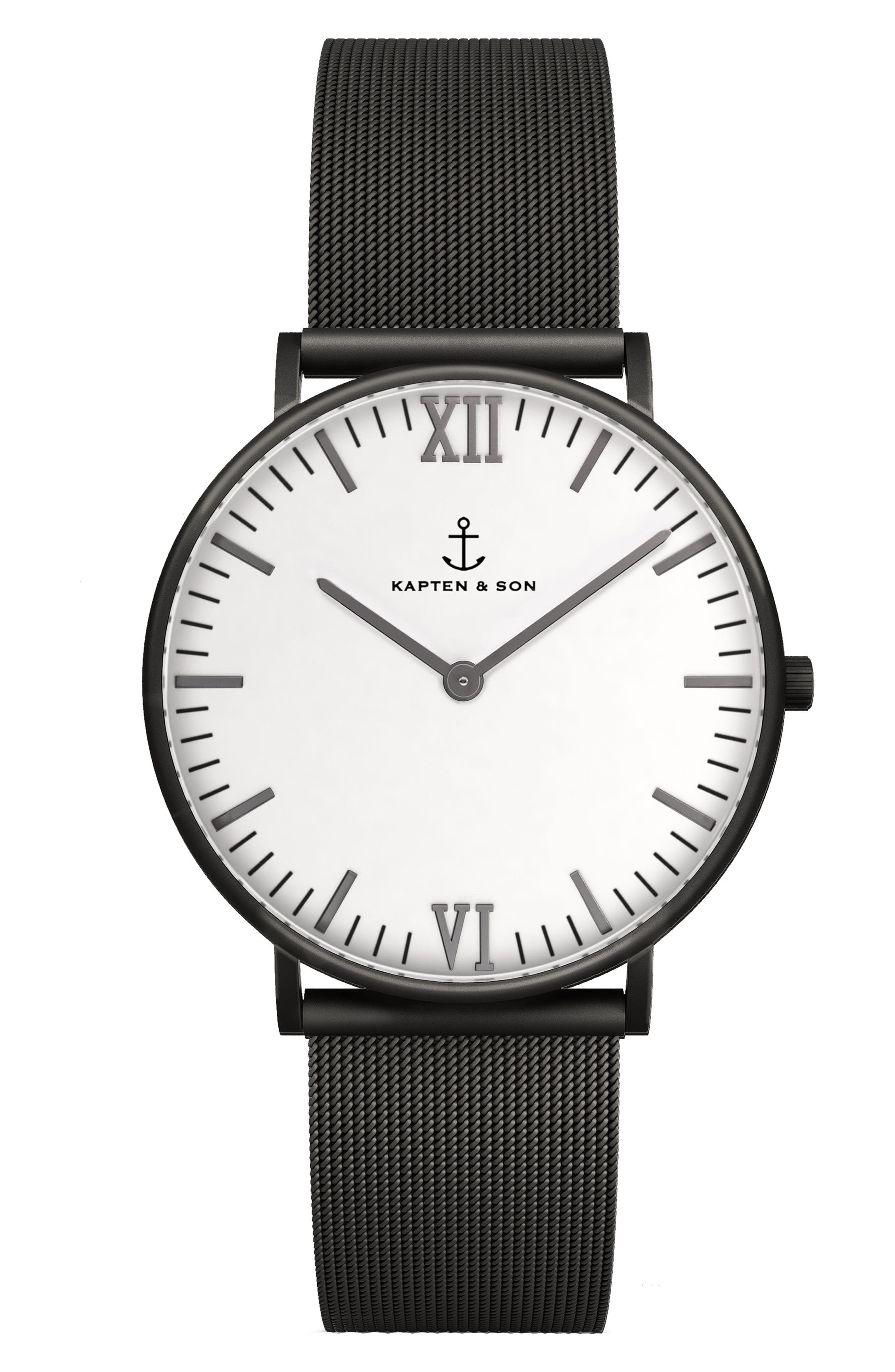 Campus Mesh Strap Watch, 40mm,                         Main,                         color, 001