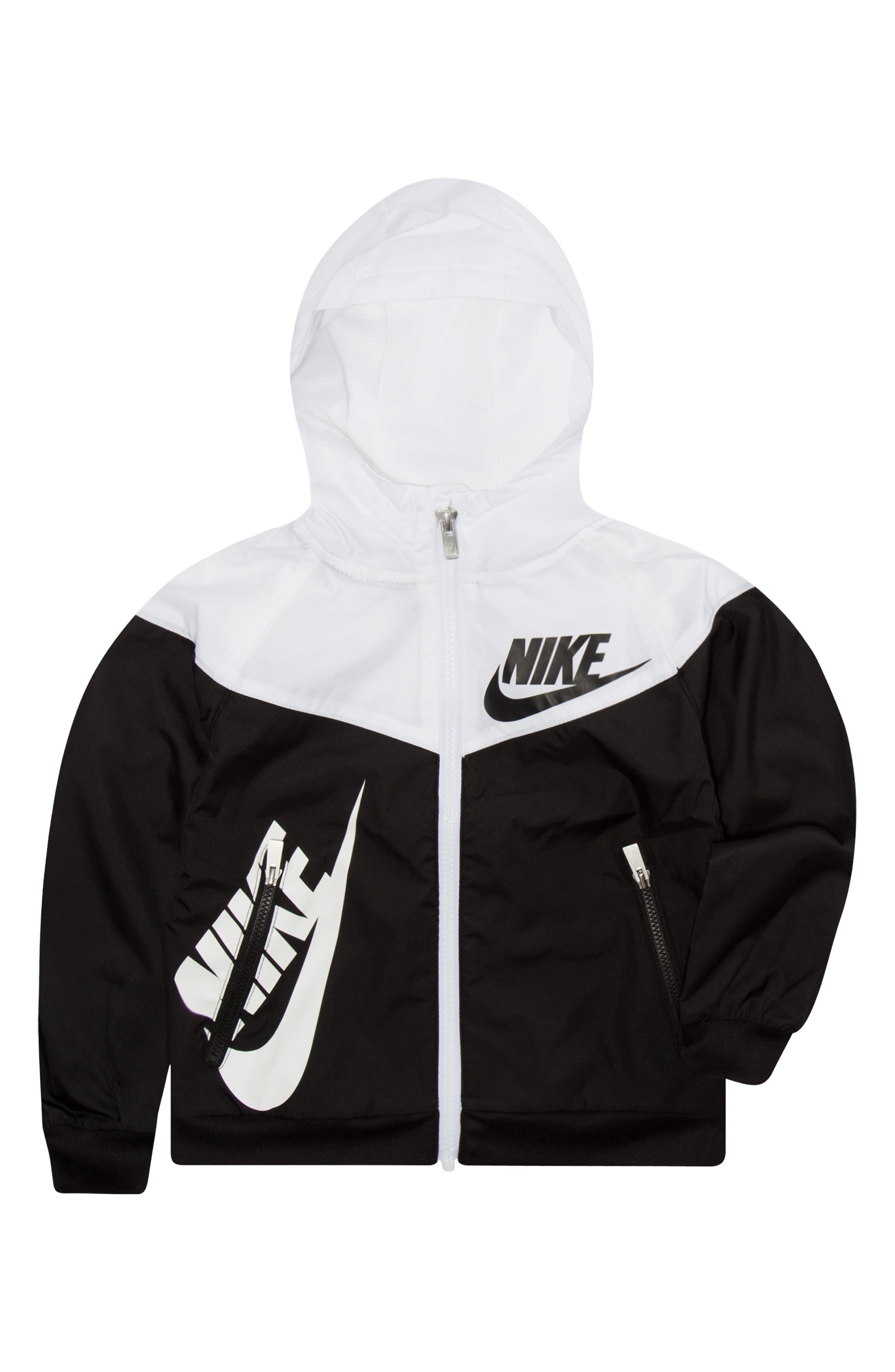 Sportswear Windrunner Zip Hoodie,                             Alternate thumbnail 3, color,                             BLACK