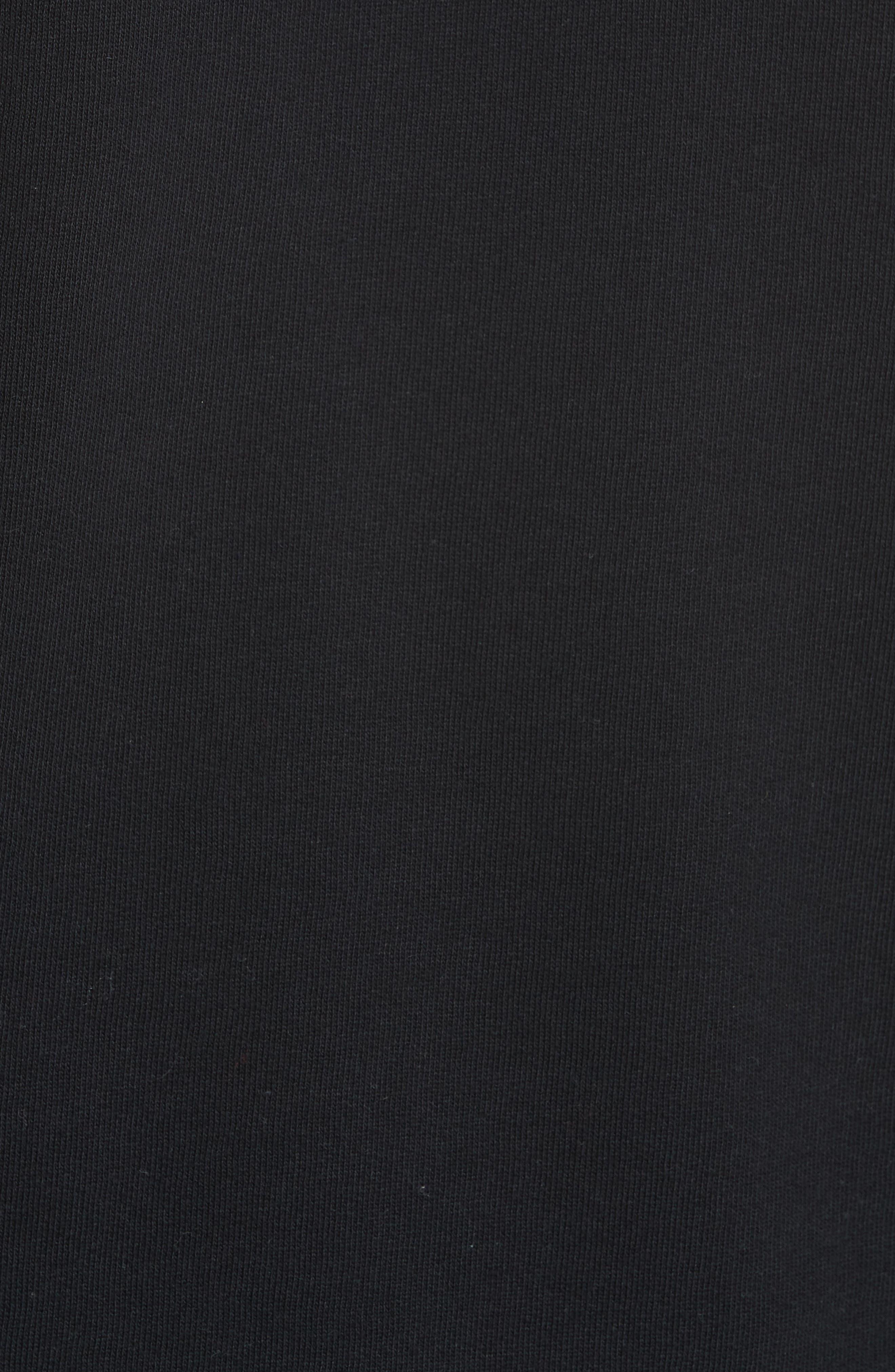 Scallop Logo Trim Crop Sweatshirt,                             Alternate thumbnail 5, color,                             BLACK