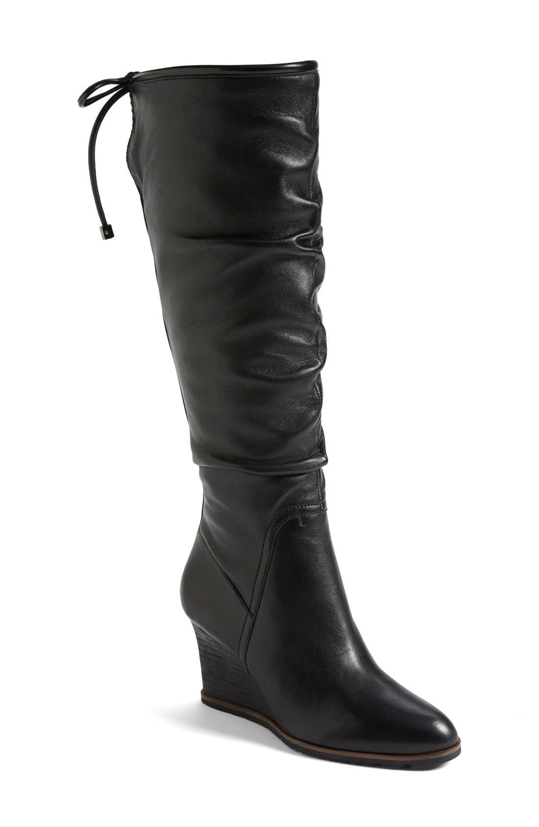 FRANCO SARTO 'Dominion' Wedge Boot, Main, color, 001
