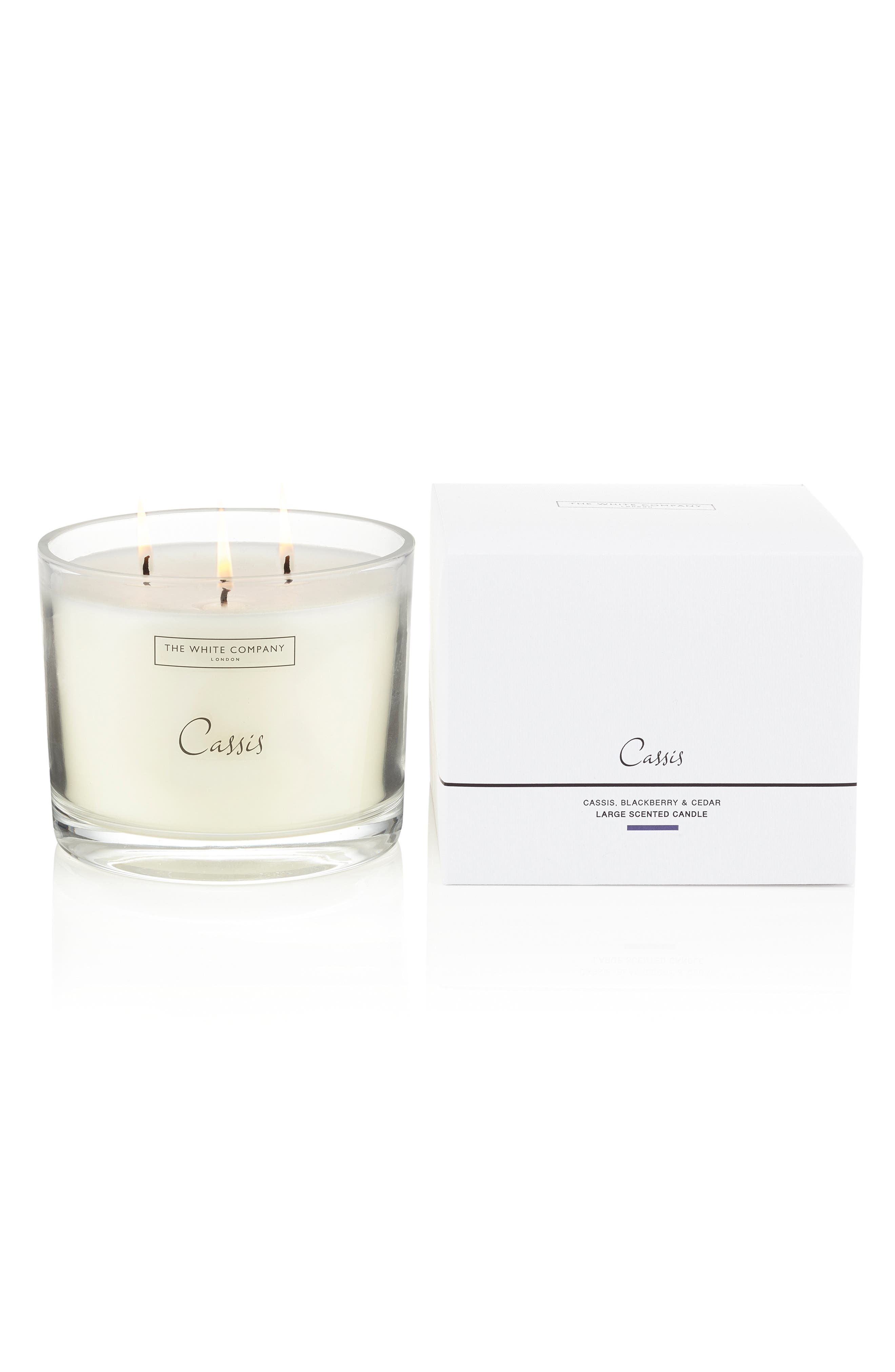 THE WHITE COMPANY,                             Large Scented Candle,                             Alternate thumbnail 2, color,                             CASSIS