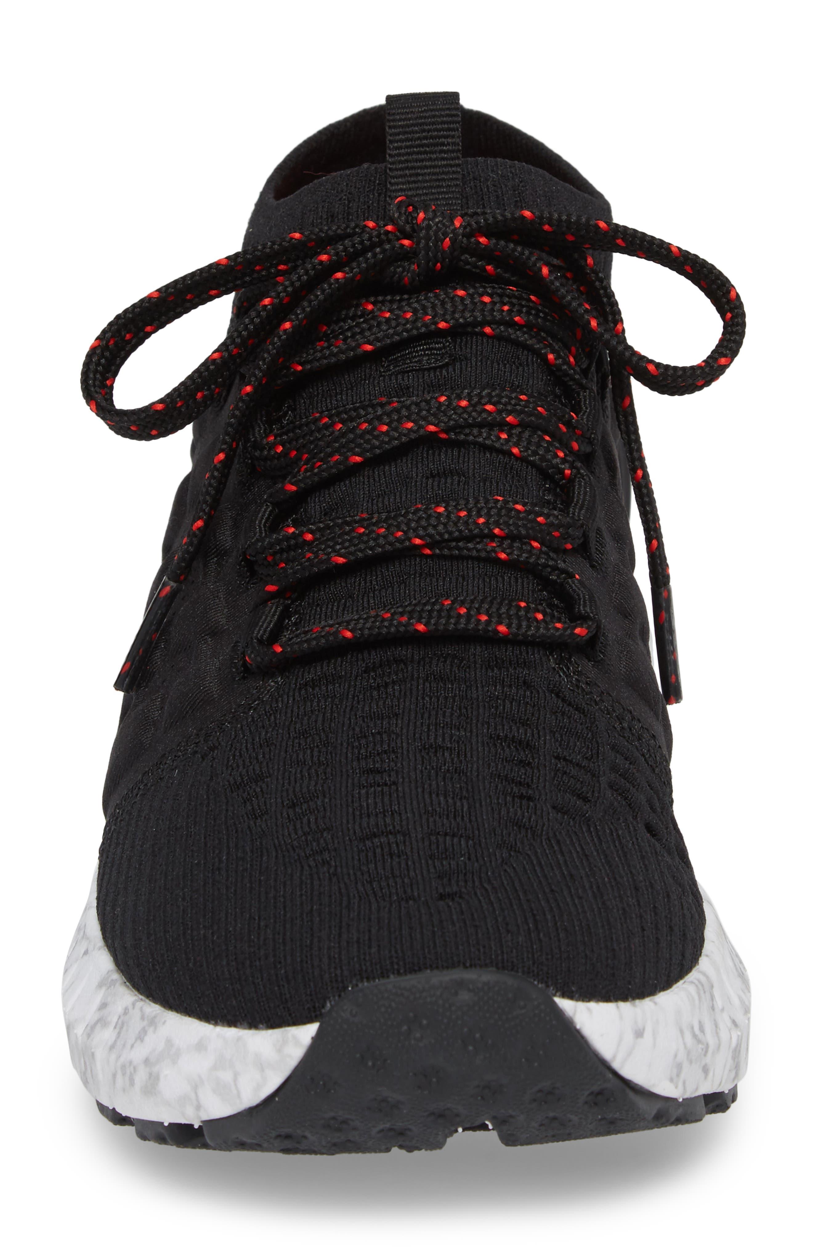 HOVR Phantom NC Sneaker,                             Alternate thumbnail 4, color,                             BLACK/ WHITE/ RED