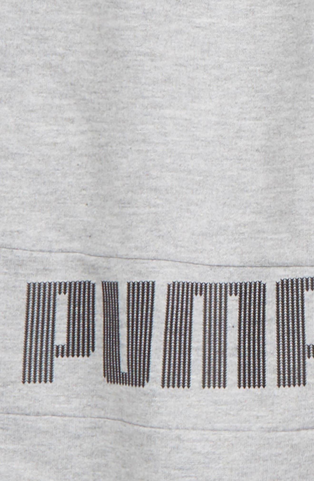 PUMA,                             Fleece Jogger Pants,                             Alternate thumbnail 3, color,                             HEATHER GREY