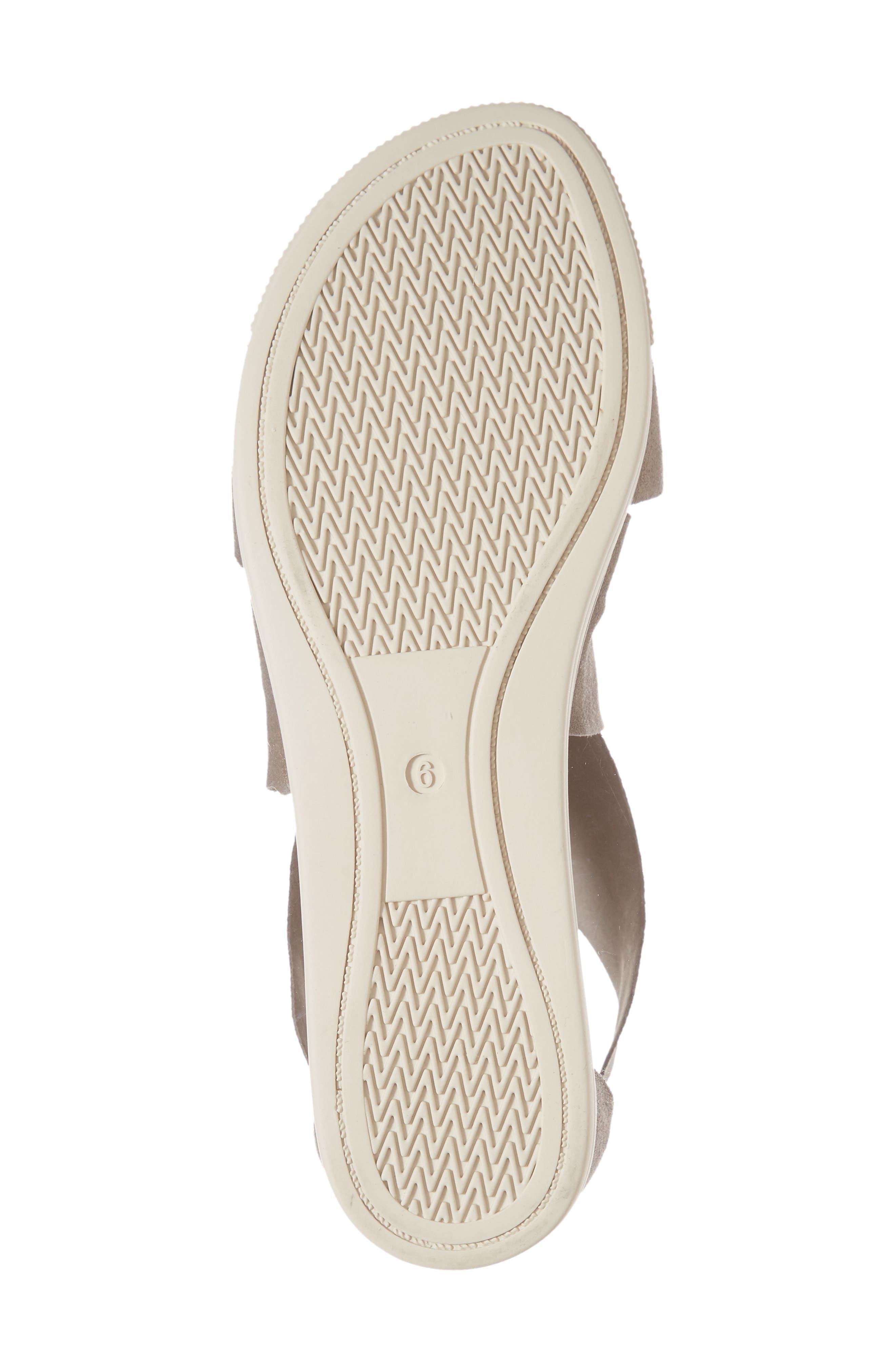 Sport Platform Sandal,                             Alternate thumbnail 6, color,                             PLATINUM LEATHER