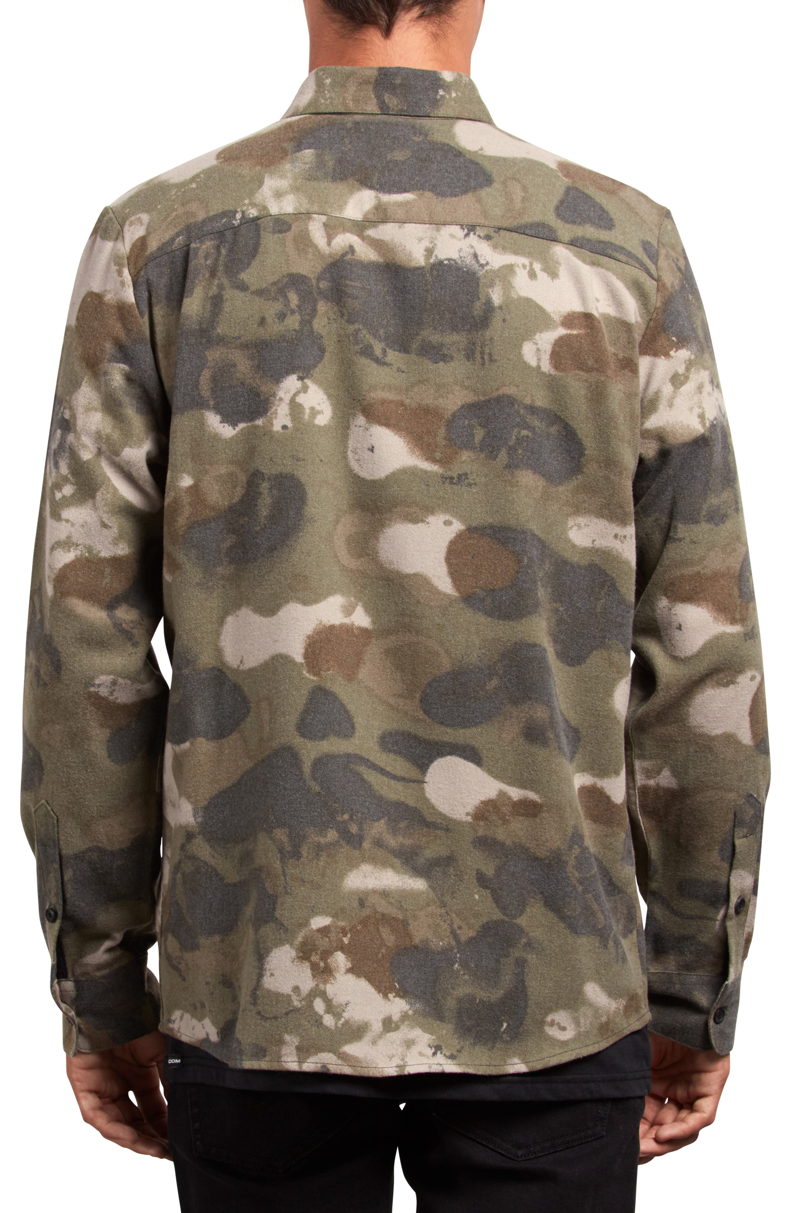 Dragstone Woven Shirt,                             Alternate thumbnail 2, color,                             CAMOUFLAGE
