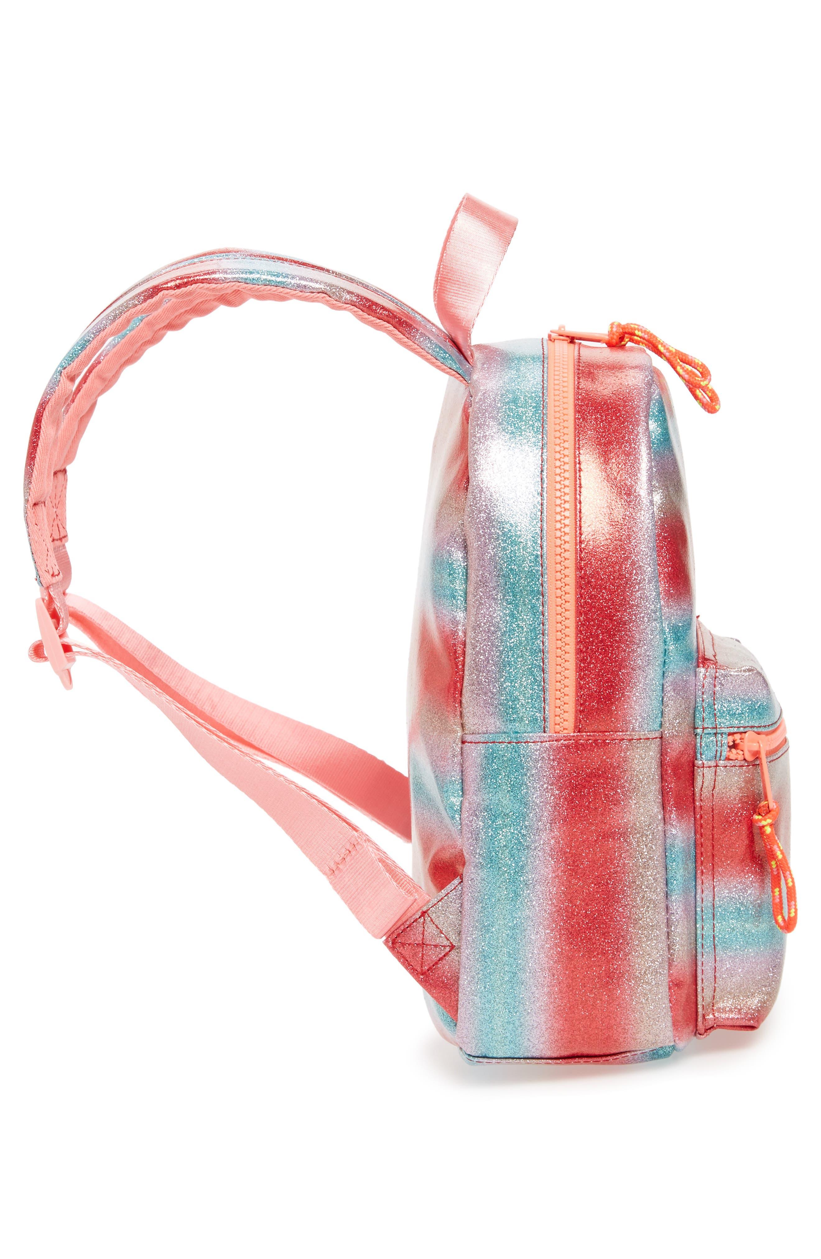 Glitter Mini Backpack,                             Alternate thumbnail 4, color,                             RAINBOW