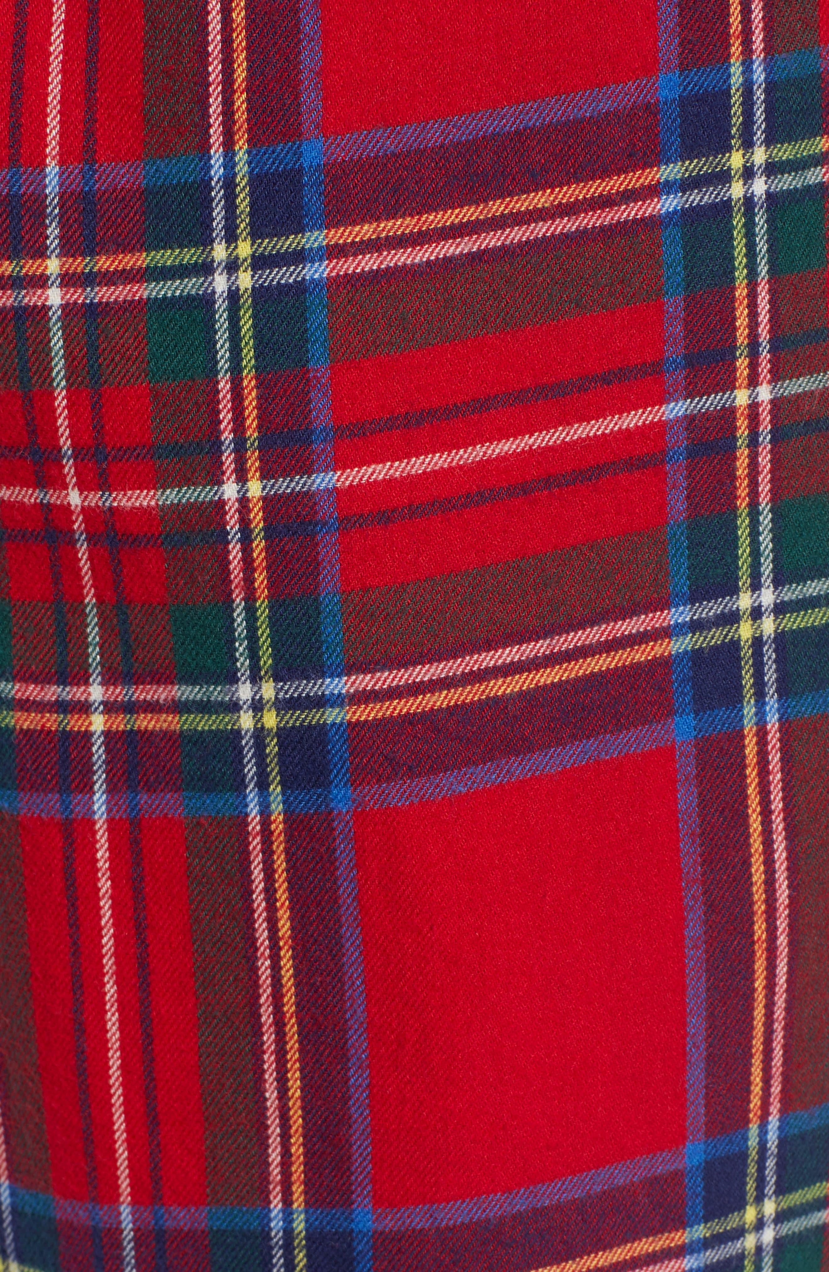 Jolly Plaid Cotton Flannel Pajama Pants,                             Alternate thumbnail 5, color,                             786