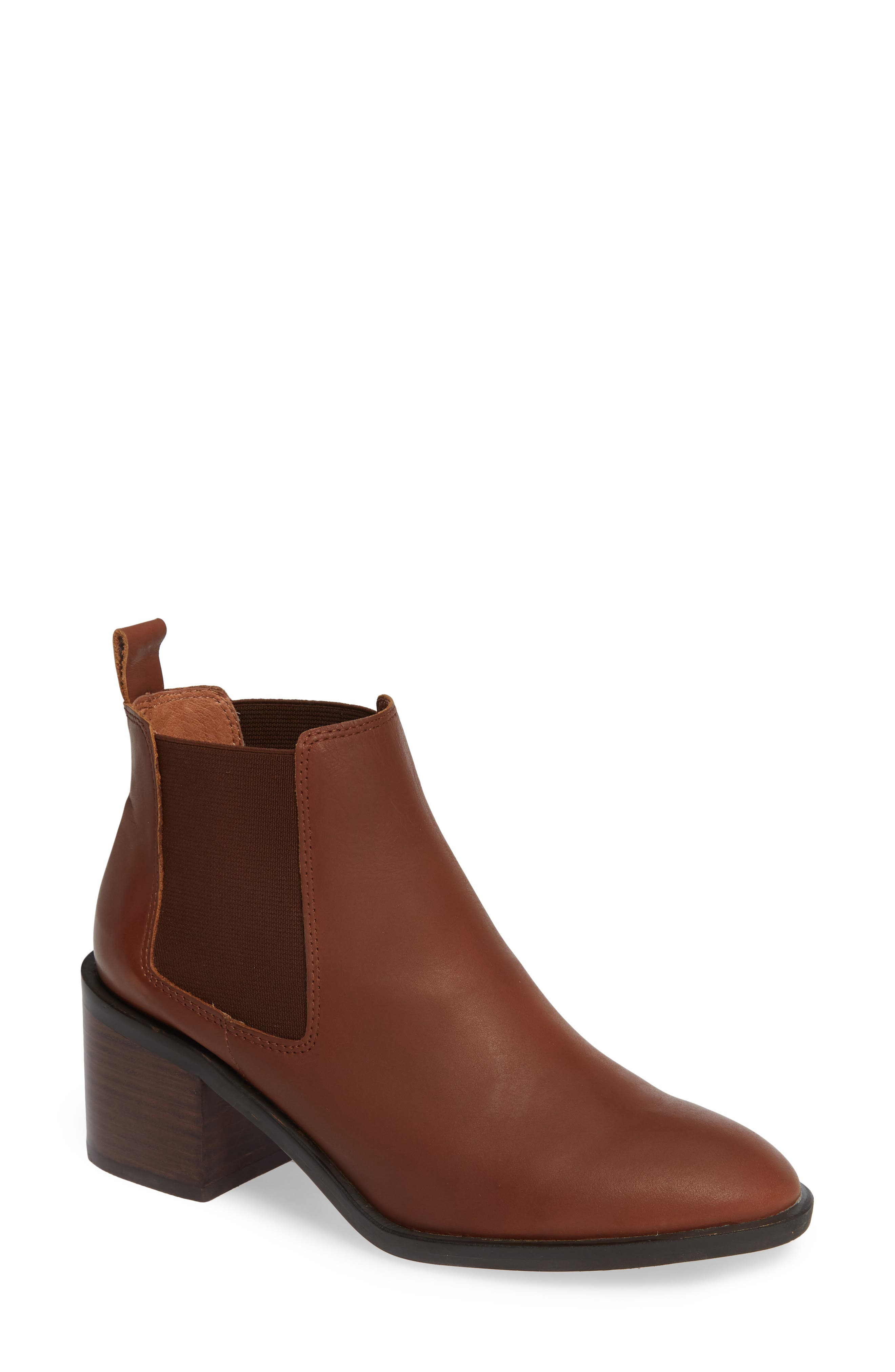 ALIAS MAE Galis Bootie in Tan Leather