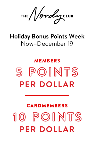 Holiday bonus points week. Now through December 19th. Members, five points per dollar. Cardmembers, ten points per dollar.