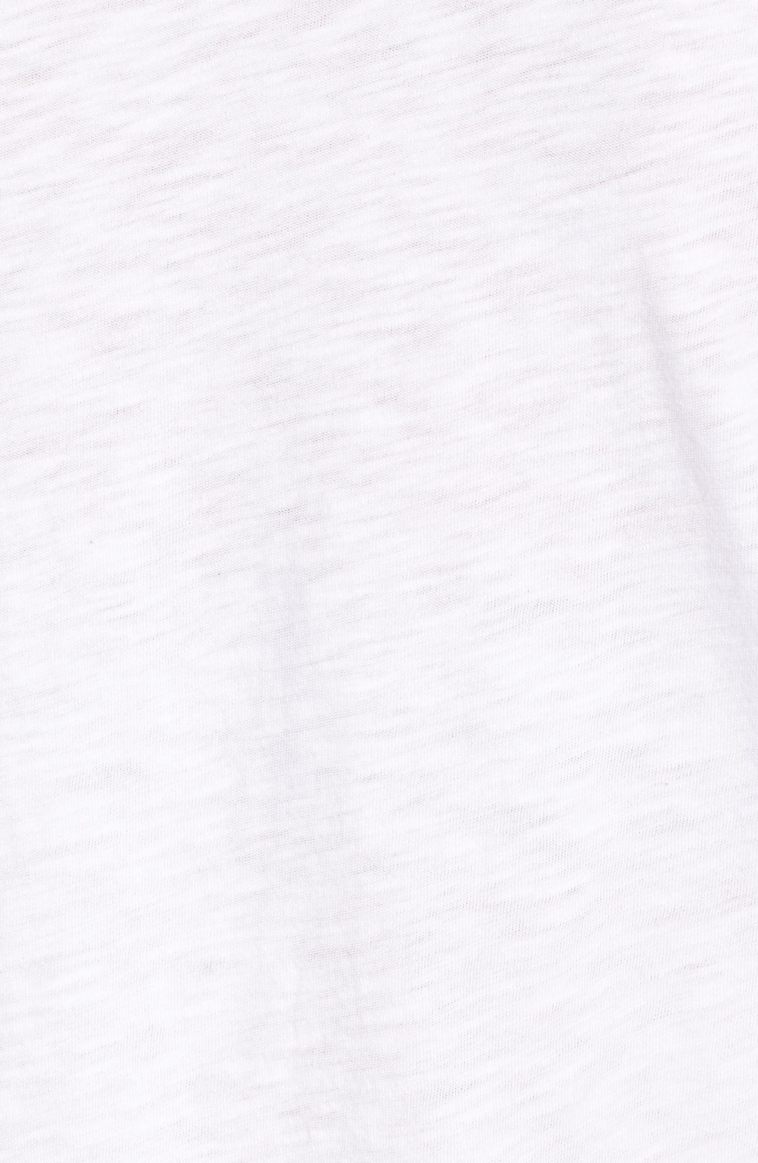 Ruffle Sleeve Tee,                             Alternate thumbnail 5, color,                             100
