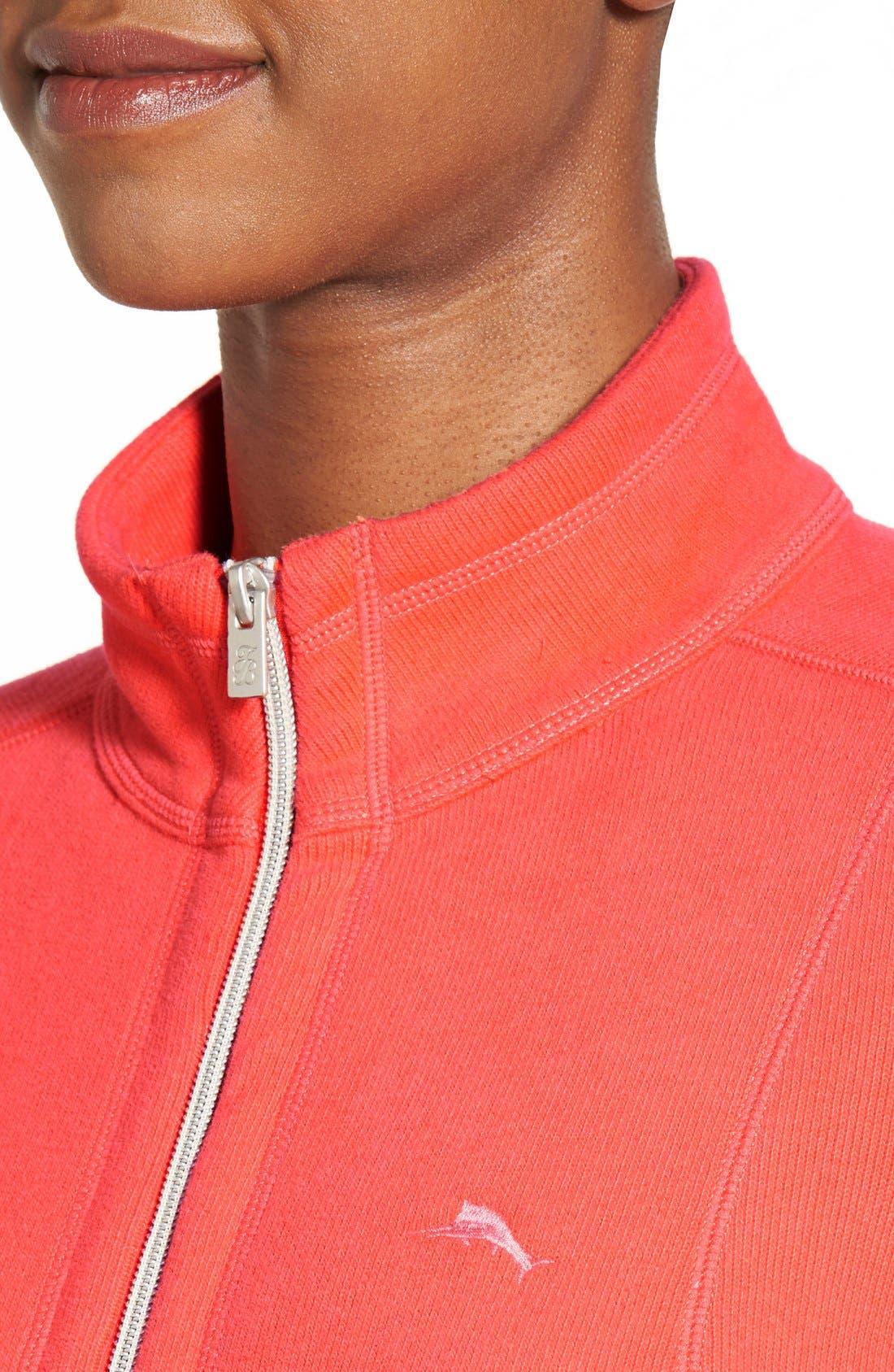 'Aruba' Full Zip Sweatshirt,                             Alternate thumbnail 15, color,