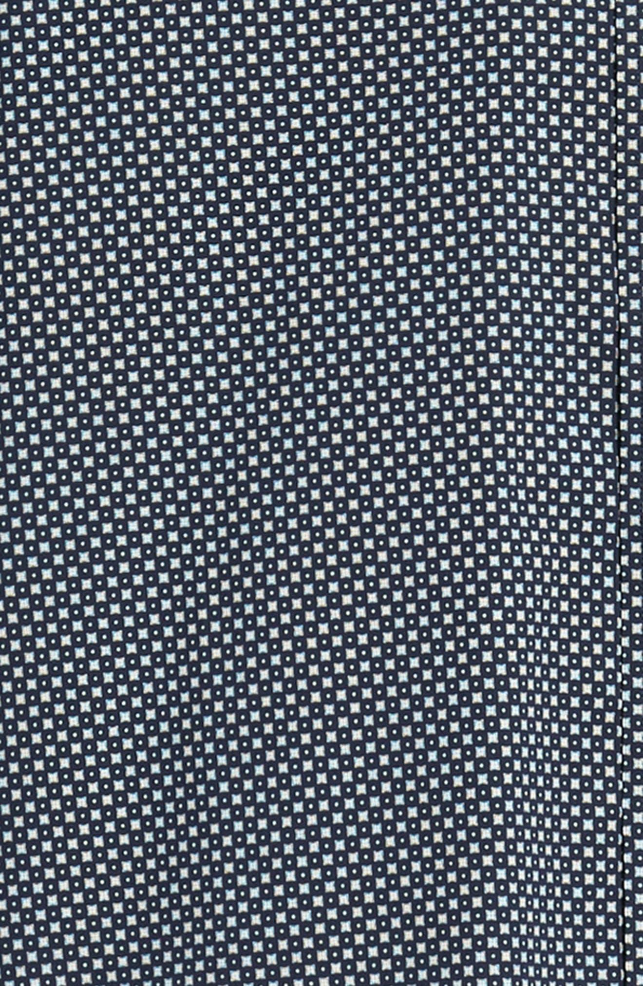 Regular Fit Geometric Dot Sport Shirt,                             Alternate thumbnail 6, color,                             NAVY/ WHITE POPLIN PRINT