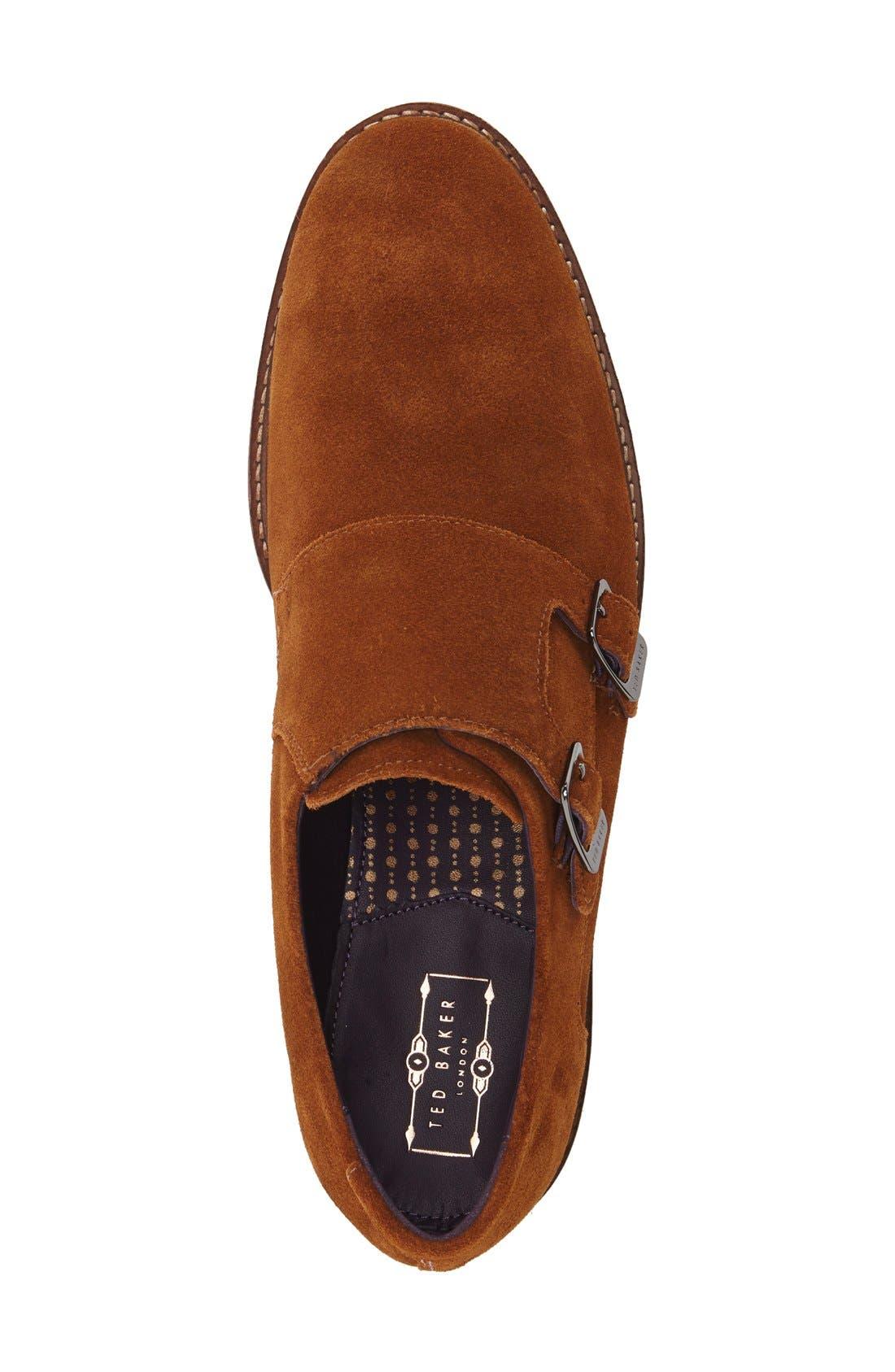 'Kartor 3' Double Monk Strap Shoe,                             Alternate thumbnail 6, color,