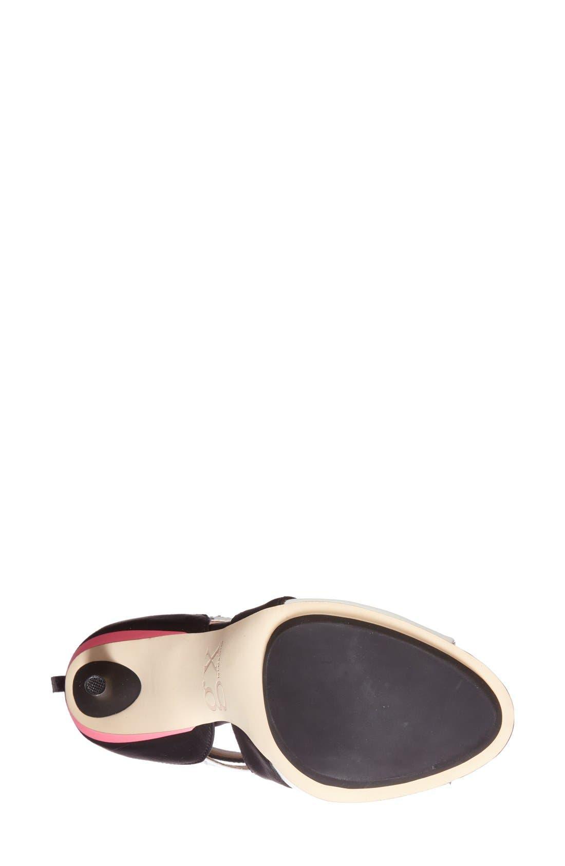 'Dart' Colorblock Cutout Sandal,                             Alternate thumbnail 2, color,                             001