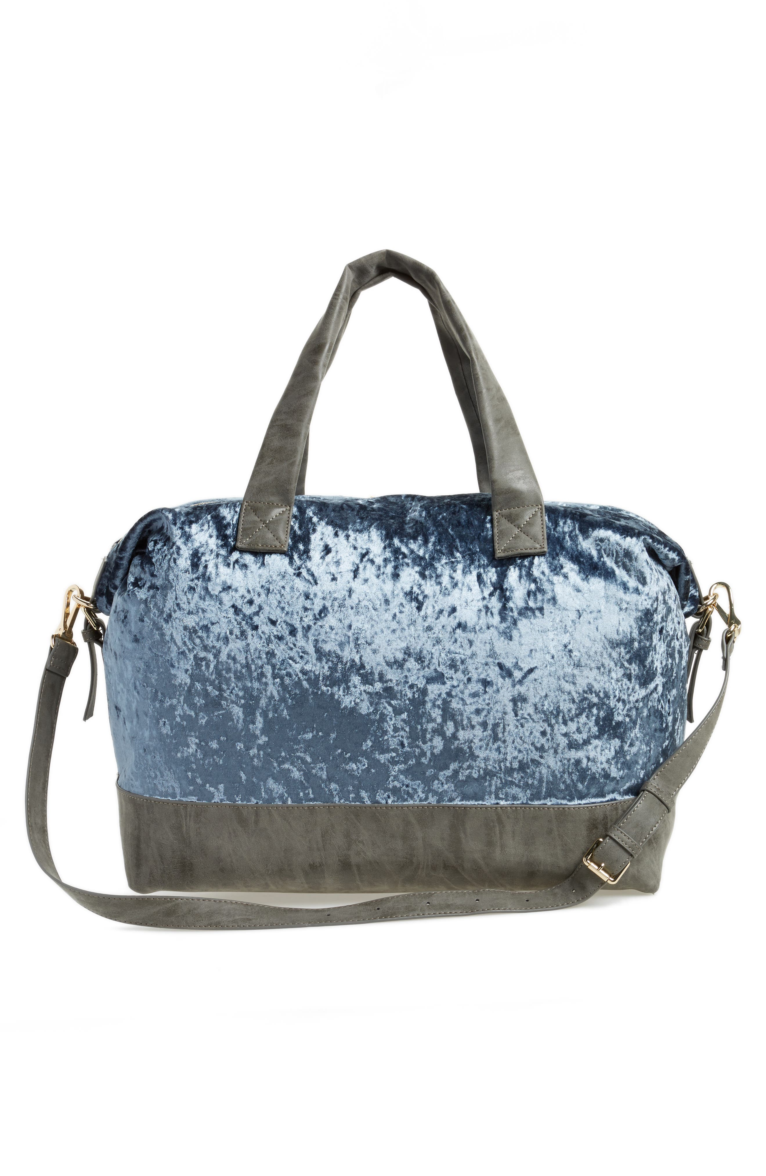 Venti Velvet Duffel Bag,                             Alternate thumbnail 6, color,