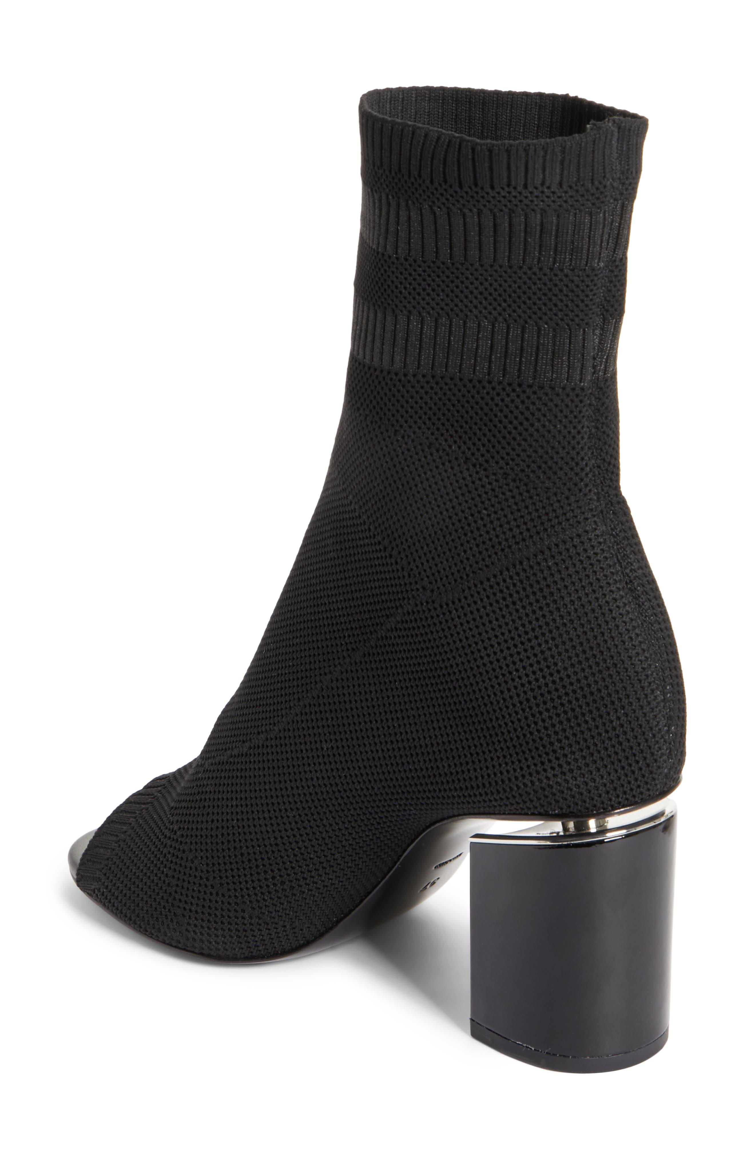 Cat Knit Sock Boot,                             Alternate thumbnail 2, color,                             BLACK
