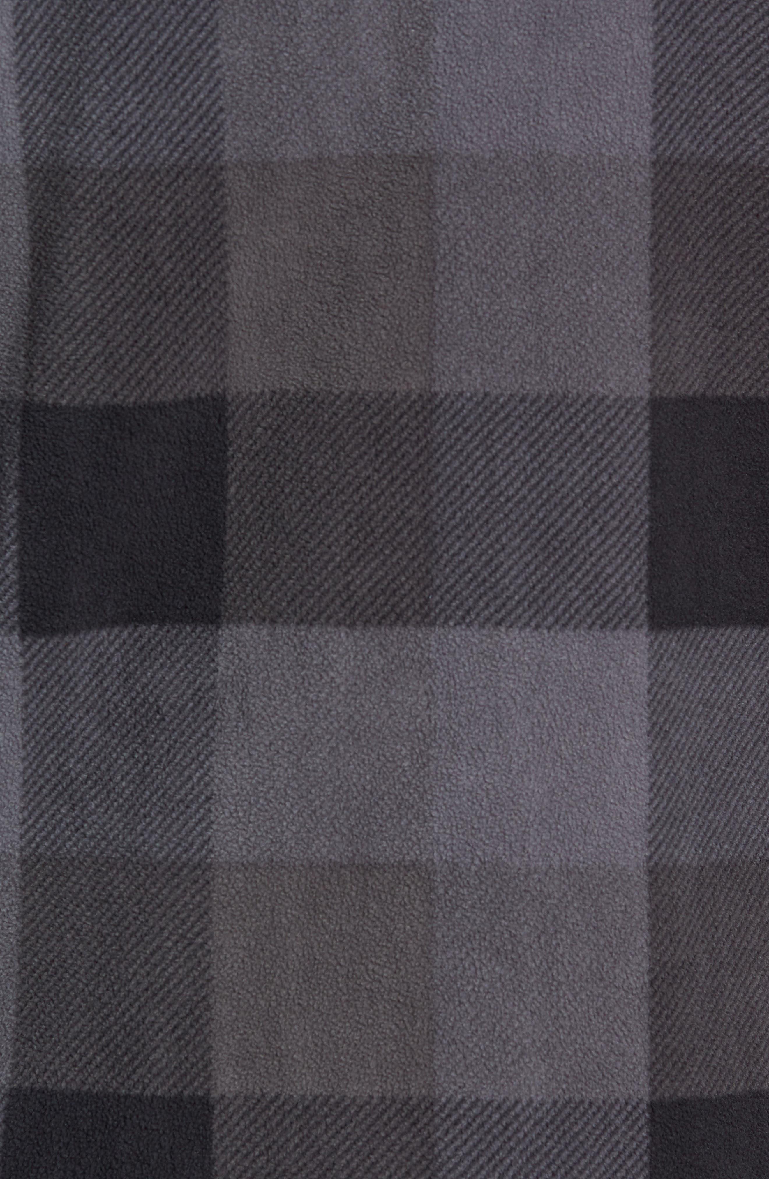 Hillcrest Polar Fleece Shirt Jacket,                             Alternate thumbnail 5, color,                             BLACK/ CHARCOAL