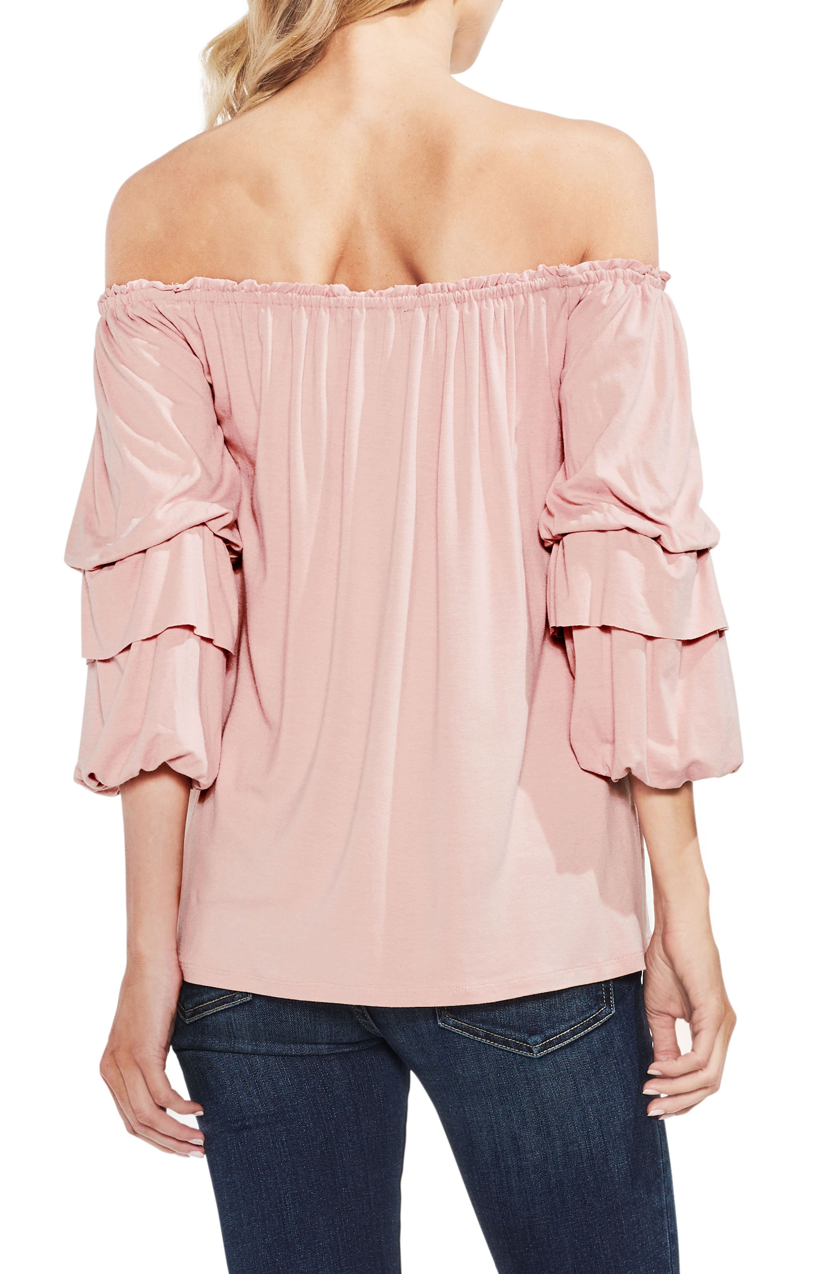 Off The Shoulder Tiered Top,                             Alternate thumbnail 6, color,