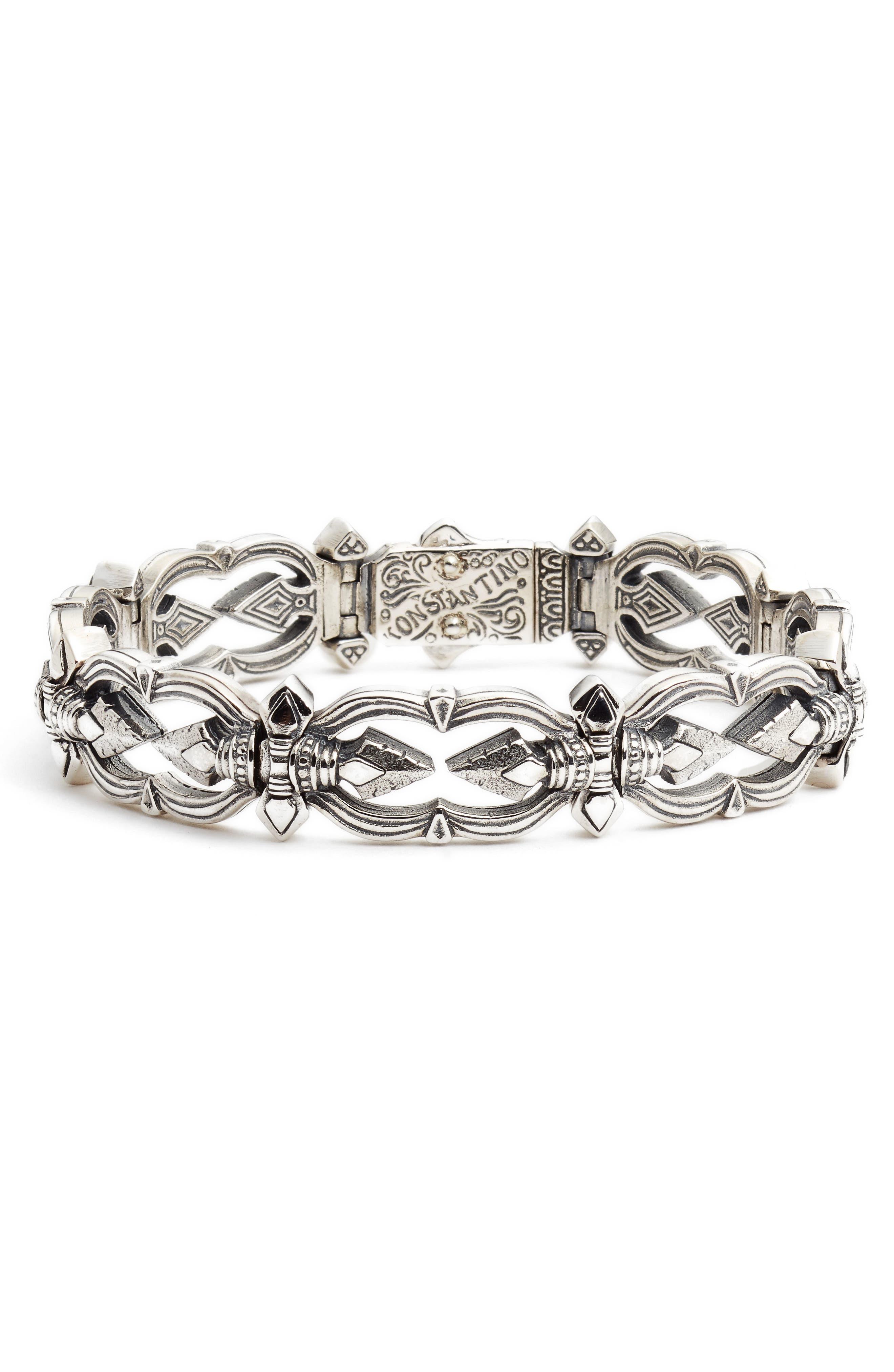 Heonos Men's Bracelet,                         Main,                         color, SILVER