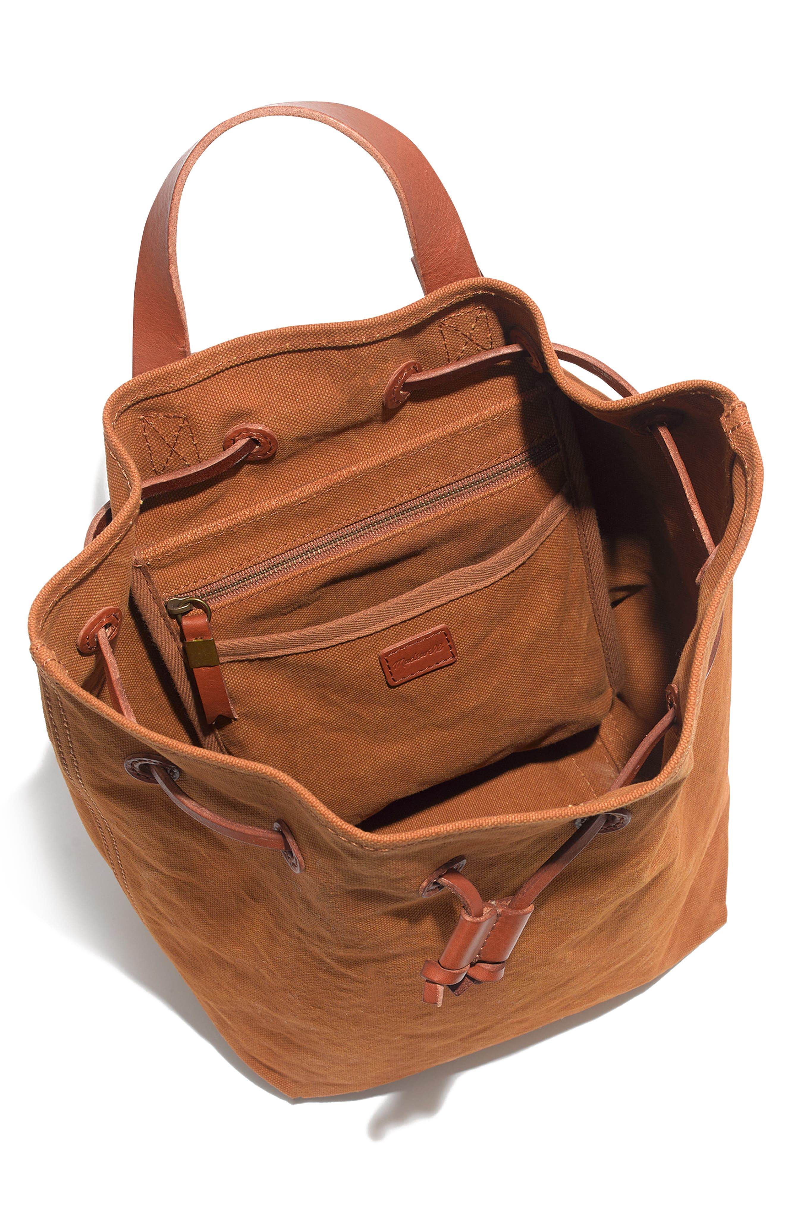 Somerset Canvas Backpack,                             Alternate thumbnail 3, color,                             ACORN