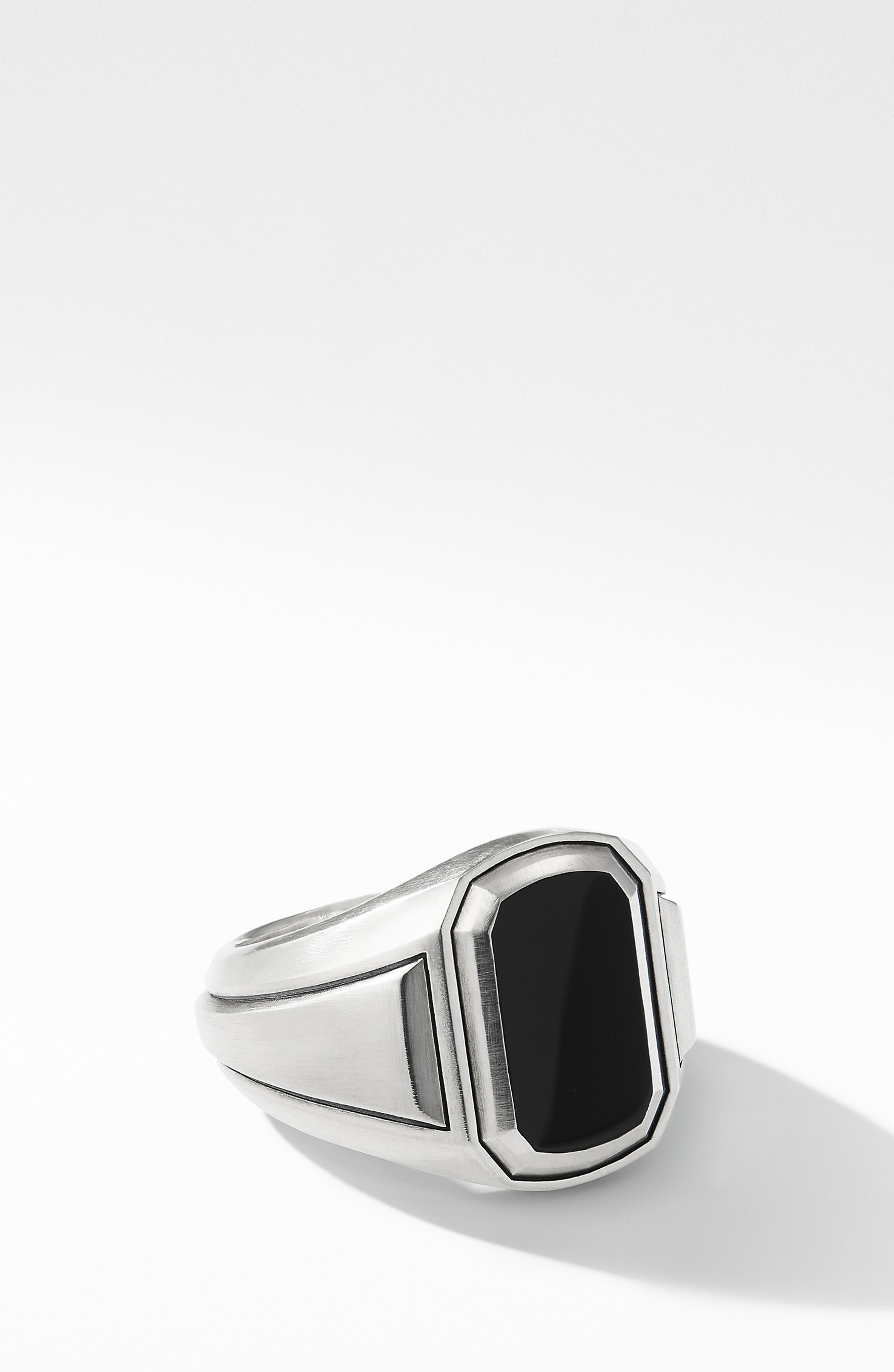 Deco Signet Ring with Black Onyx,                         Main,                         color, BLACK ONYX