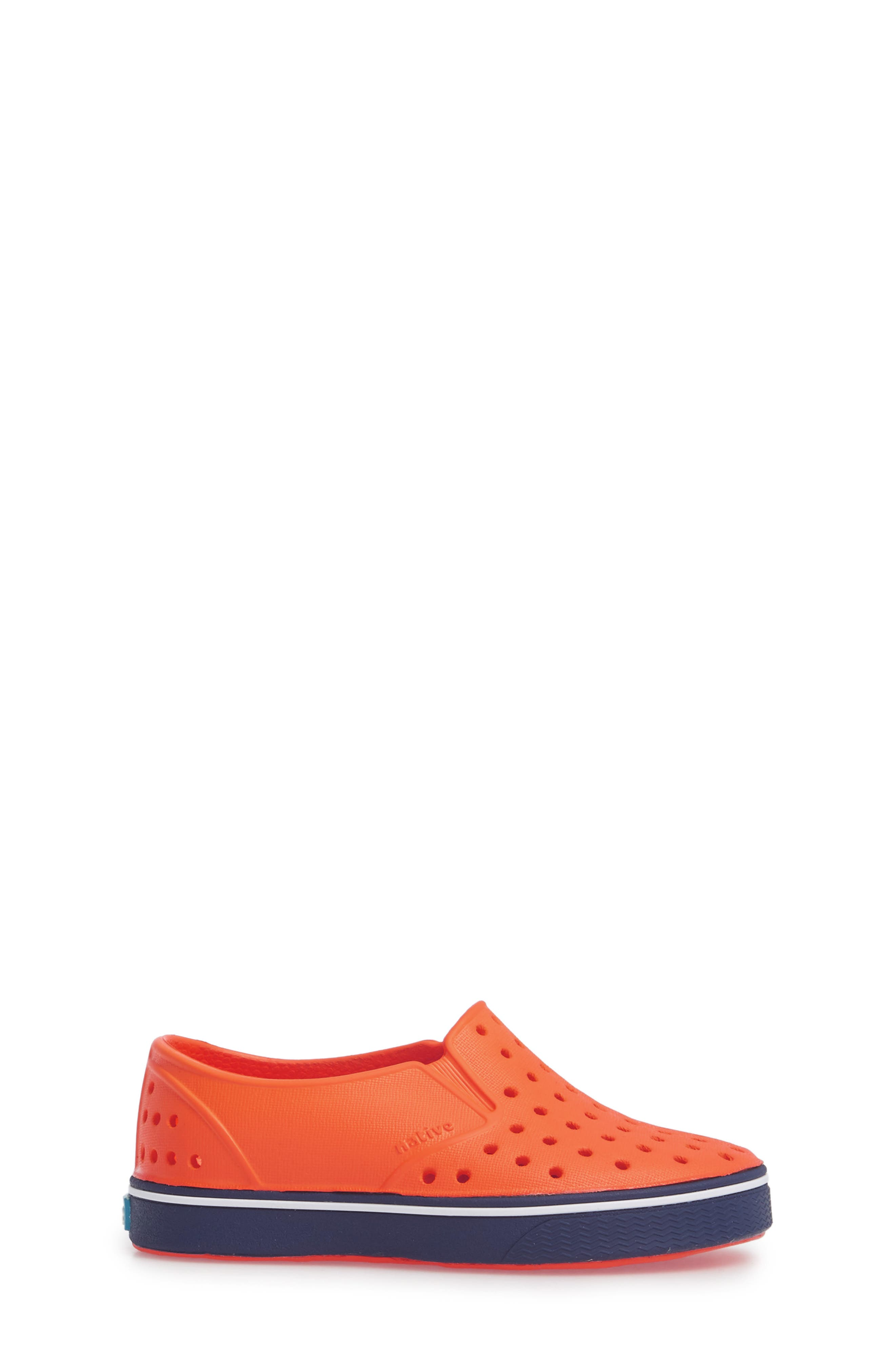 Miles Water Friendly Slip-On Sneaker,                             Alternate thumbnail 3, color,                             SUNSET ORANGE/ REGATTA BLUE