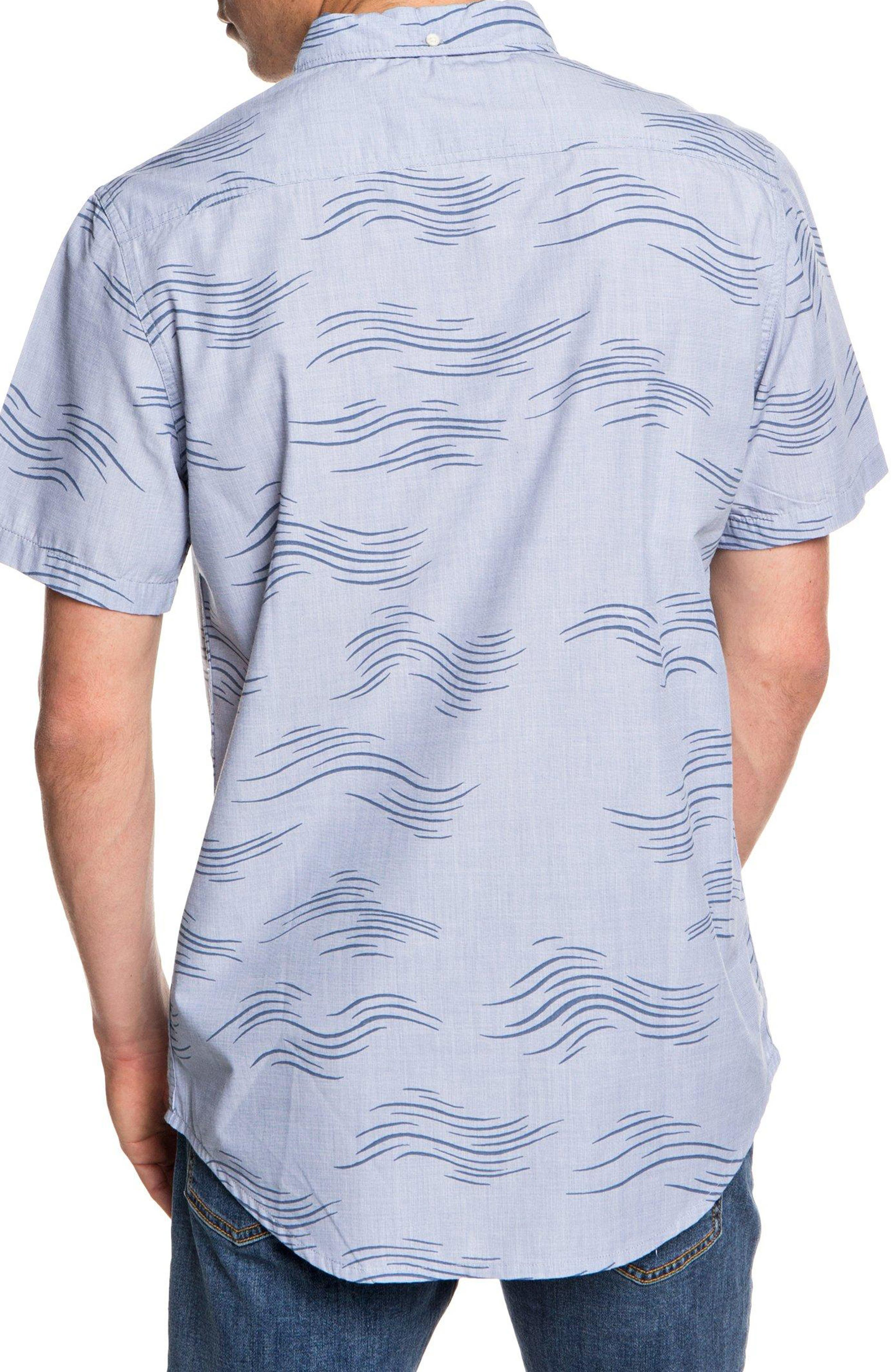 Valley Groove Print Woven Shirt,                             Alternate thumbnail 2, color,                             BIJOU BLUE VALLEY GROVE
