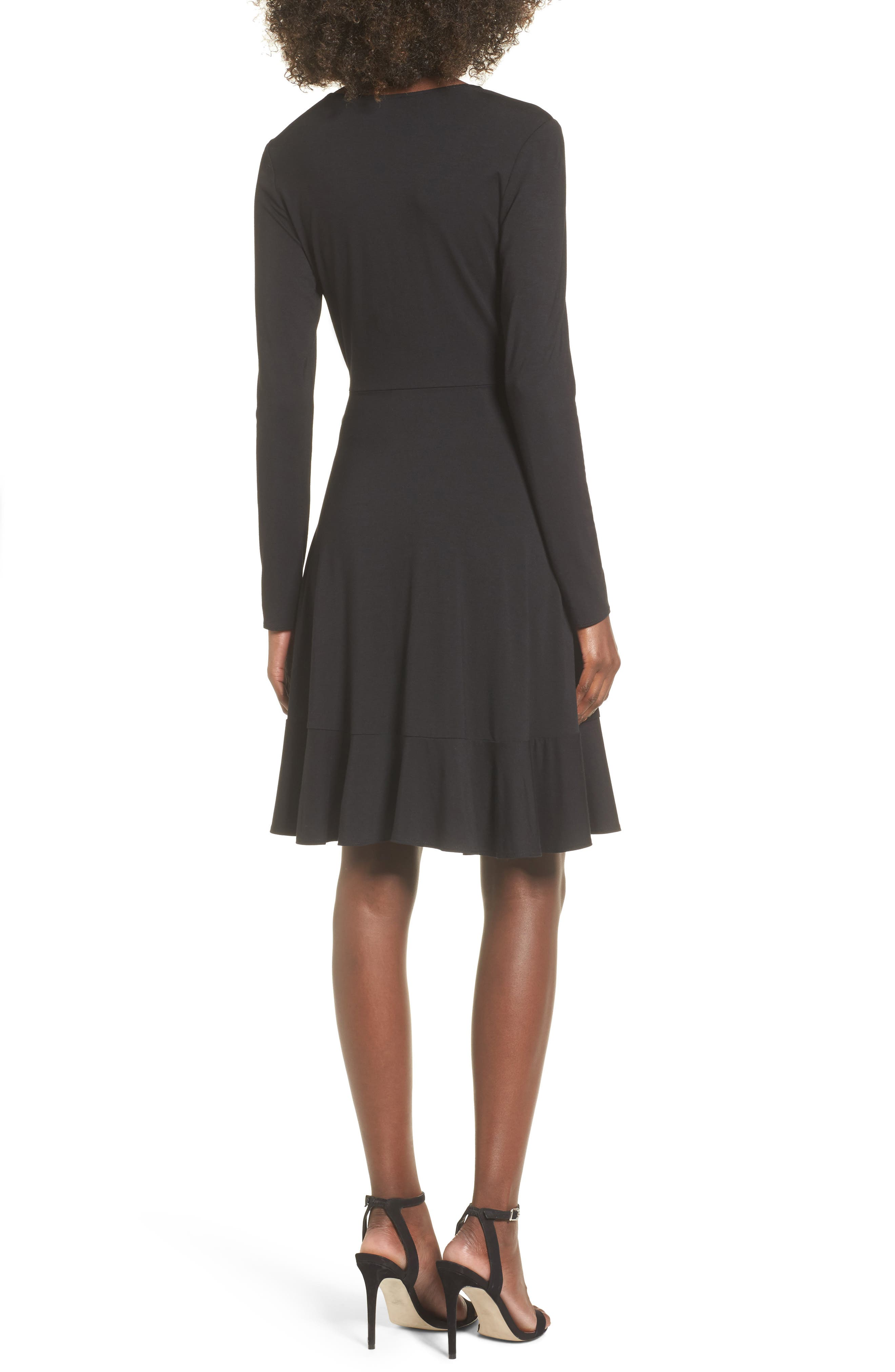 Ruffle Wrap Dress,                             Alternate thumbnail 2, color,                             003