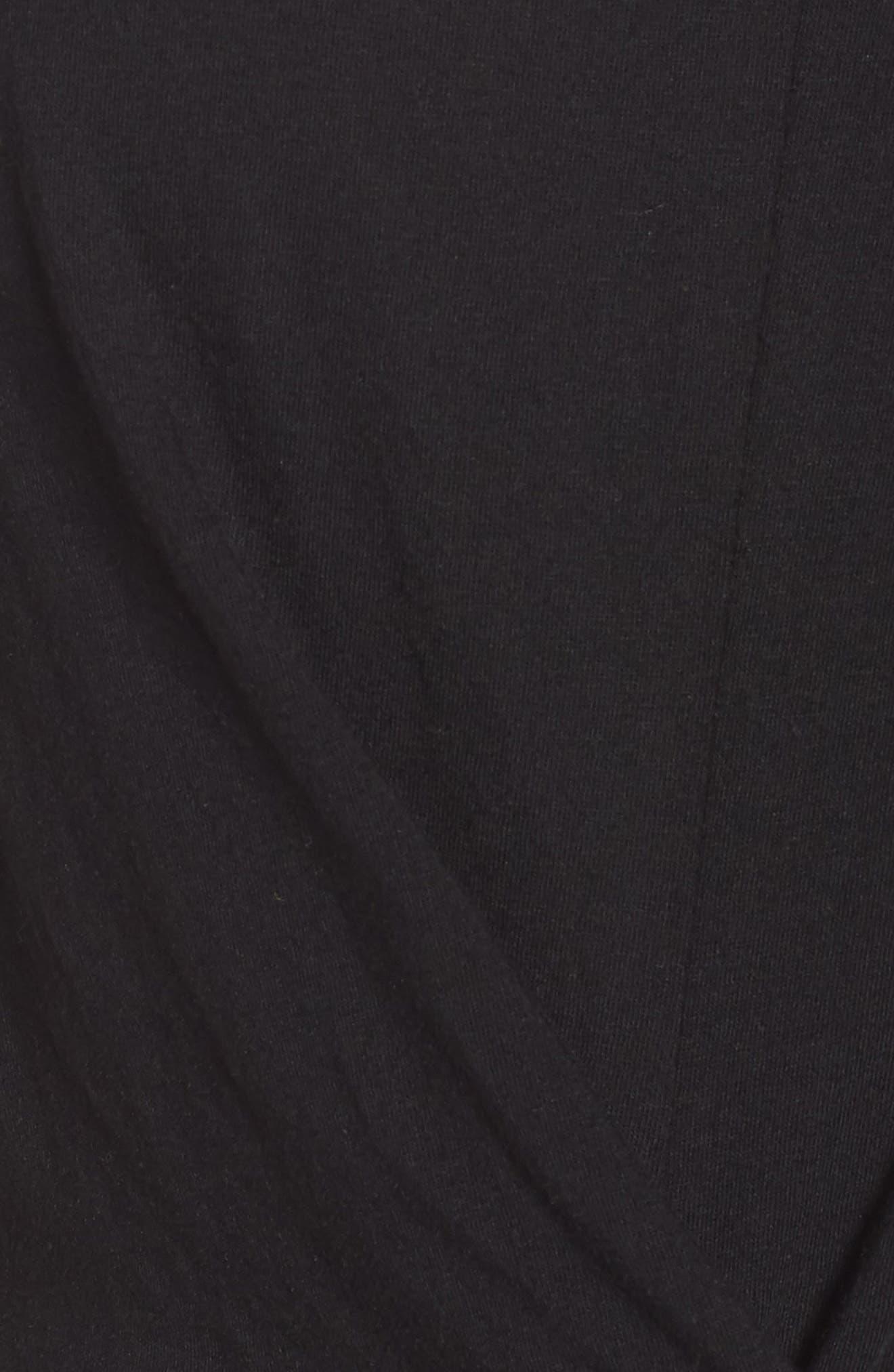 Ruffle Sleeve Twist Hem Tee,                             Alternate thumbnail 6, color,                             001