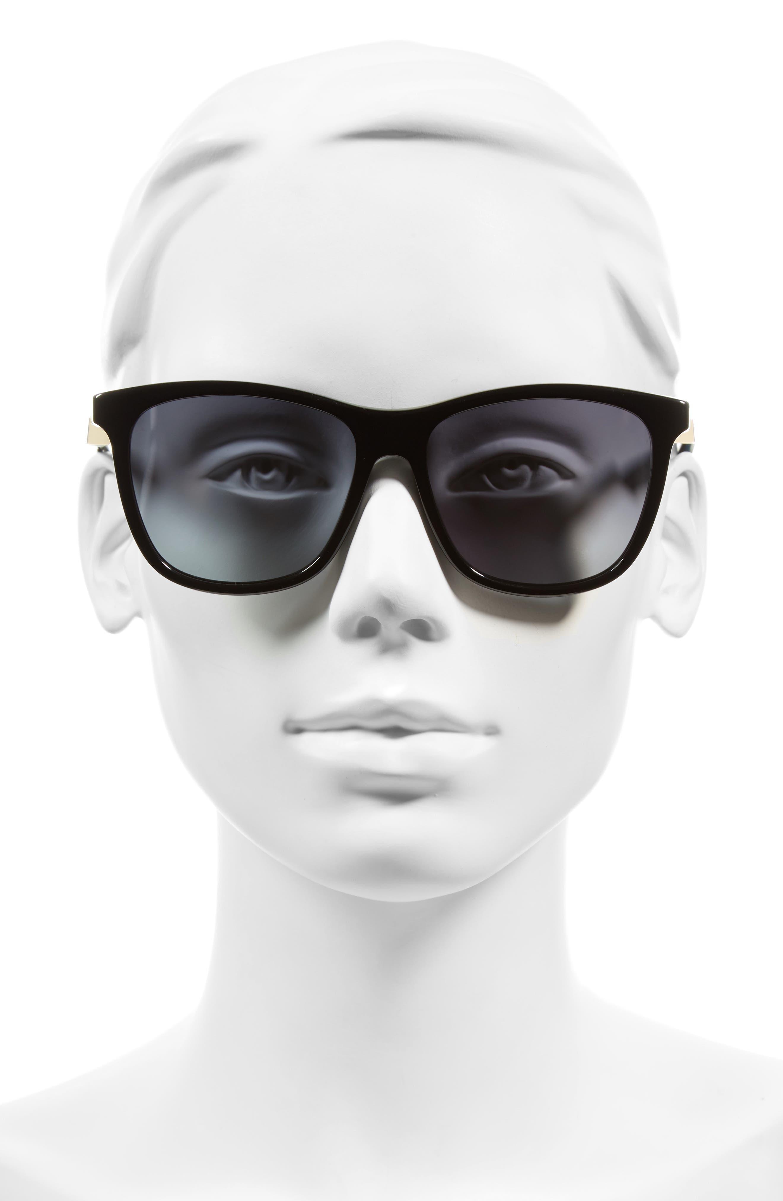 55mm Cube Retro Sunglasses,                             Alternate thumbnail 5, color,