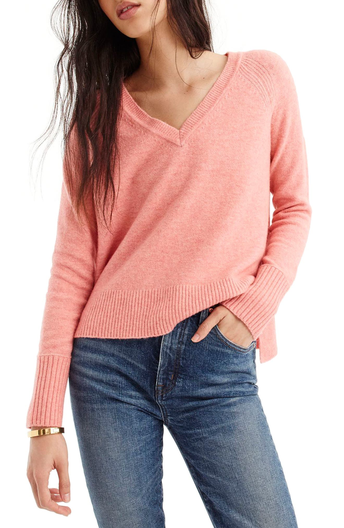Supersoft Yarn V-Neck Sweater,                             Main thumbnail 11, color,