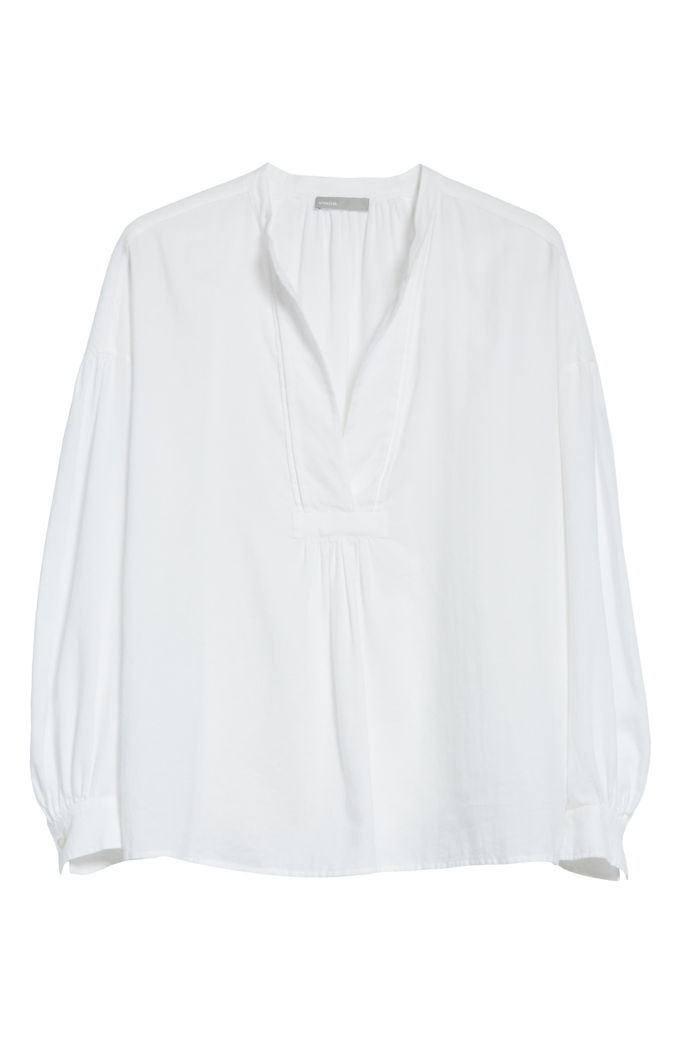 Shirred Cotton Blouse,                             Alternate thumbnail 12, color,