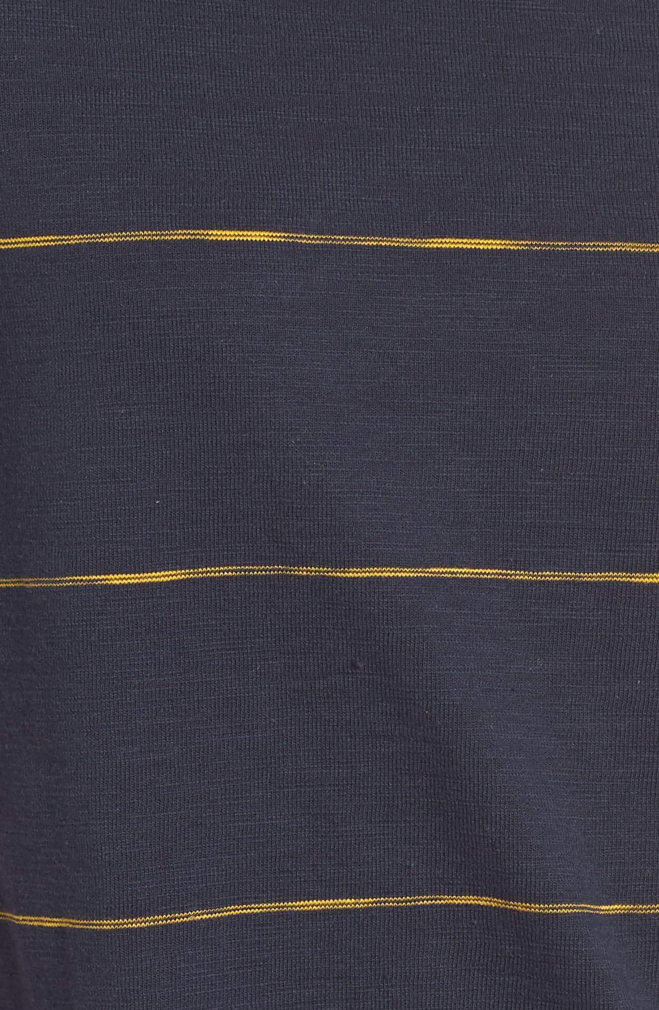 Sunset Stripe T-Shirt Dress,                             Alternate thumbnail 6, color,
