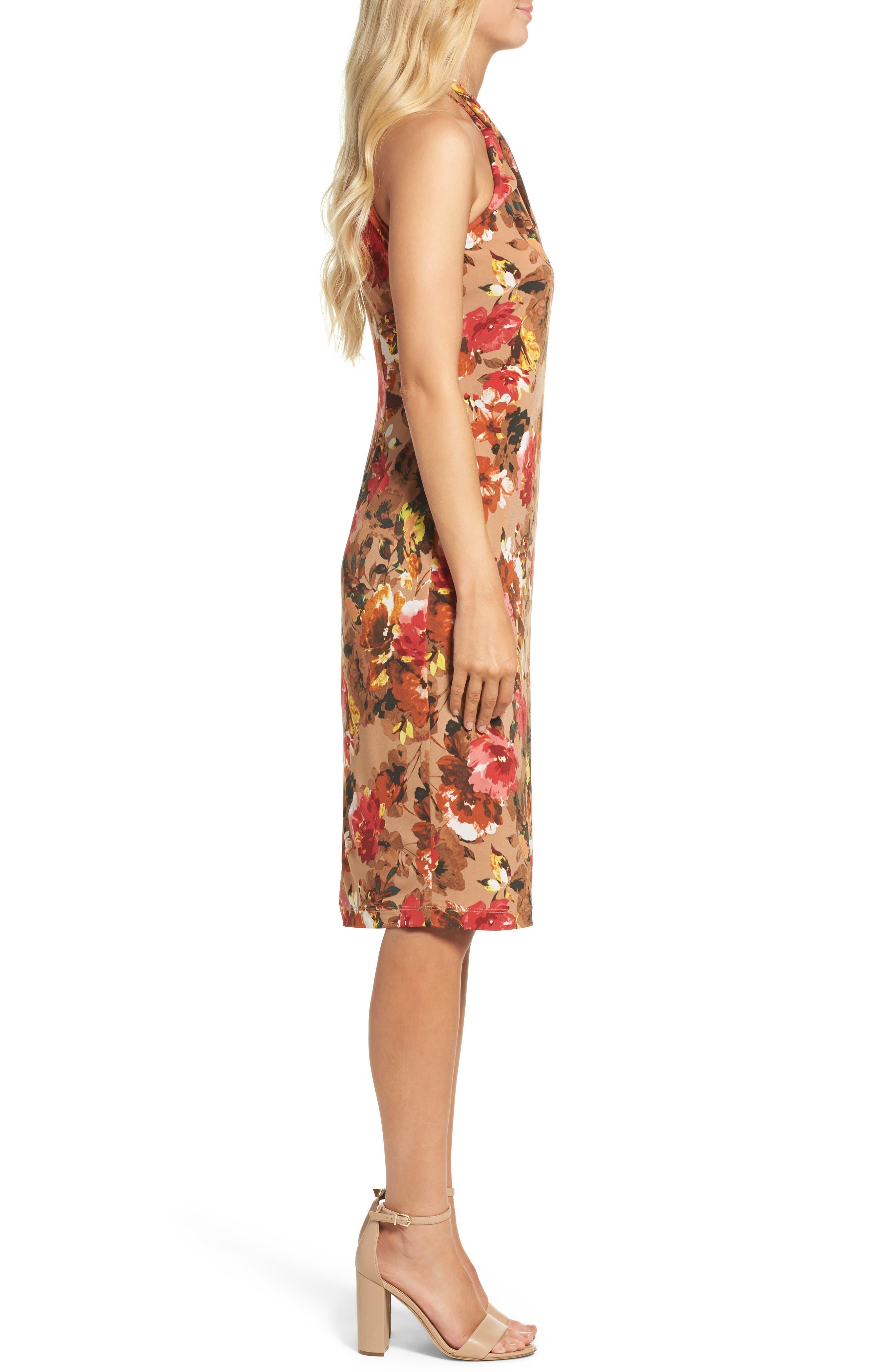 Jersey Midi Dress,                             Alternate thumbnail 3, color,