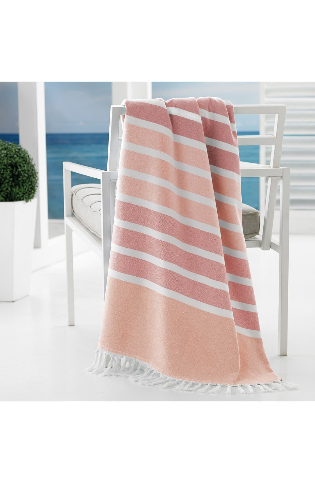 'Bodrum' Cotton Beach Towel,                             Alternate thumbnail 2, color,                             CORAL