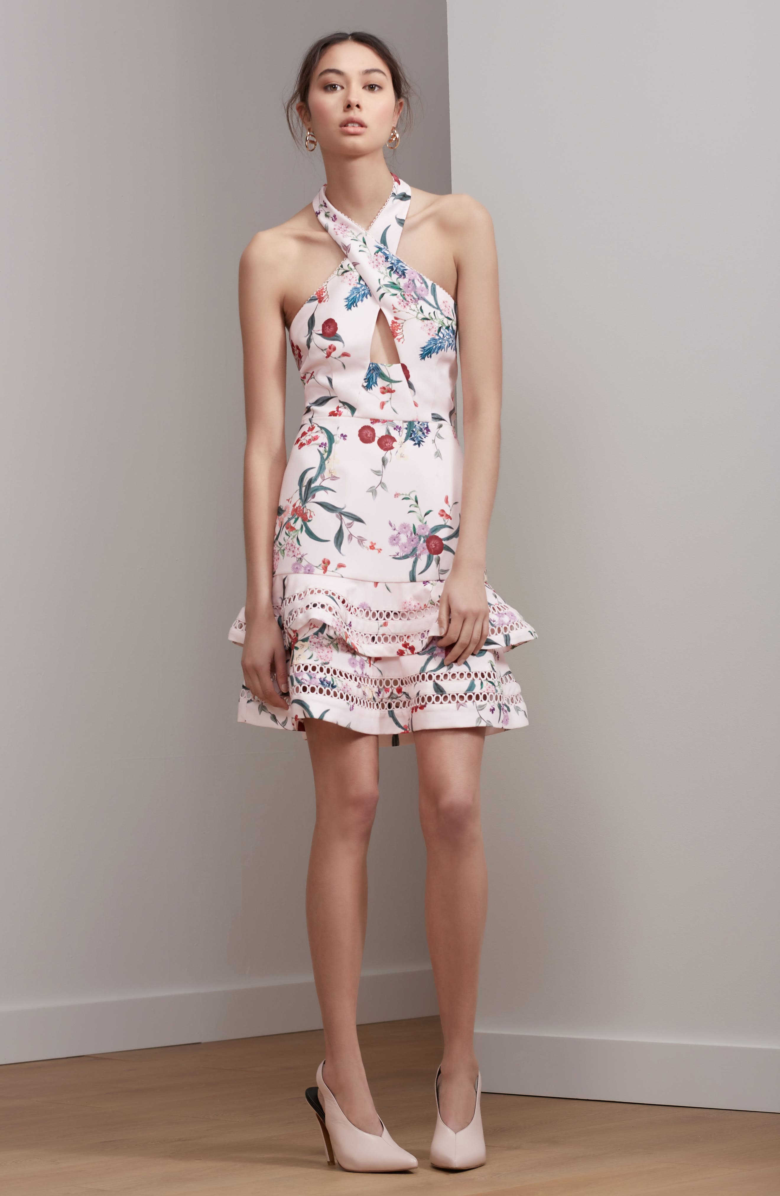 Indulge Halter A-Line Dress,                             Alternate thumbnail 7, color,                             650