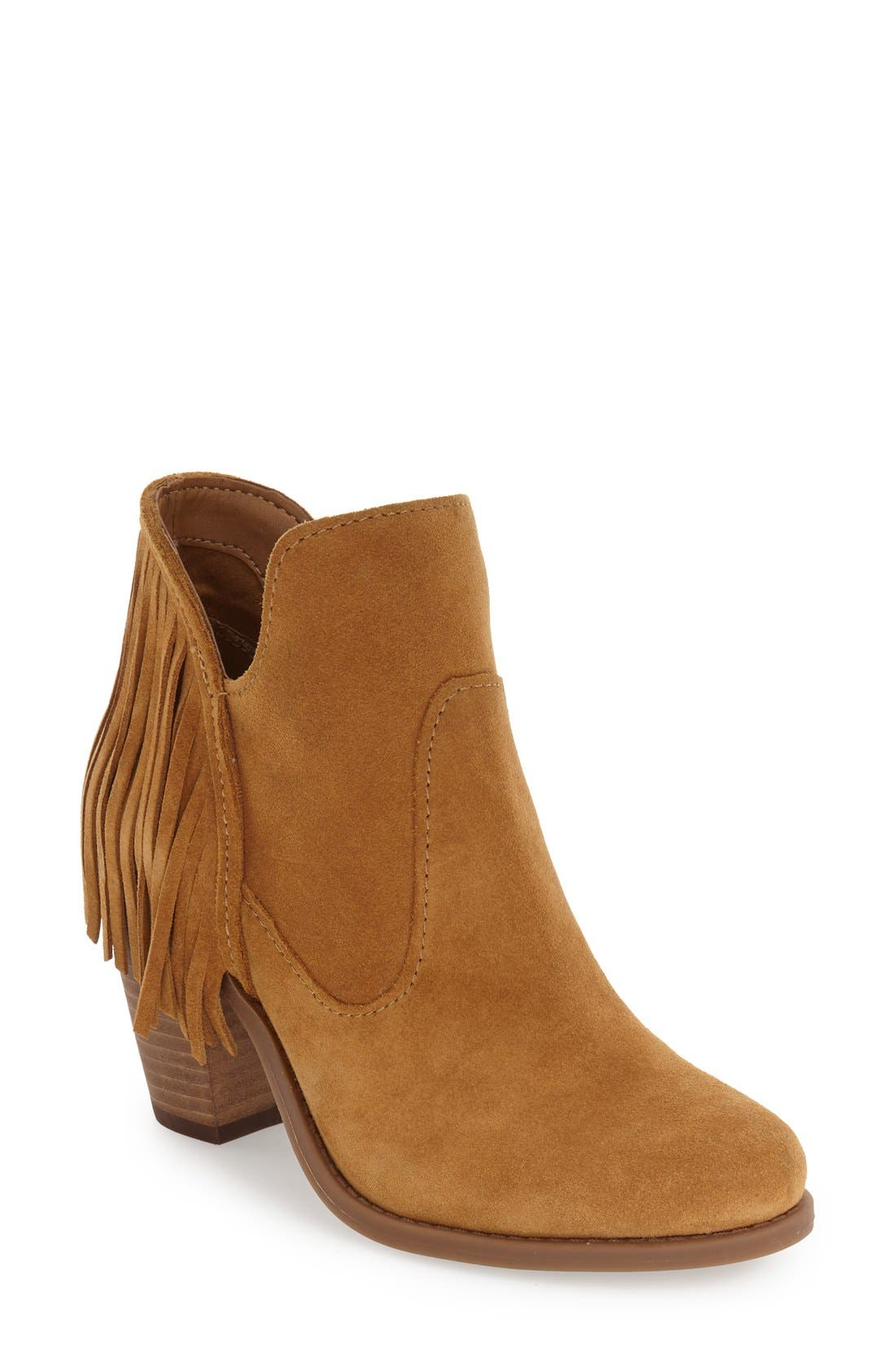 'Cecila' Fringe Bootie,                         Main,                         color, 201