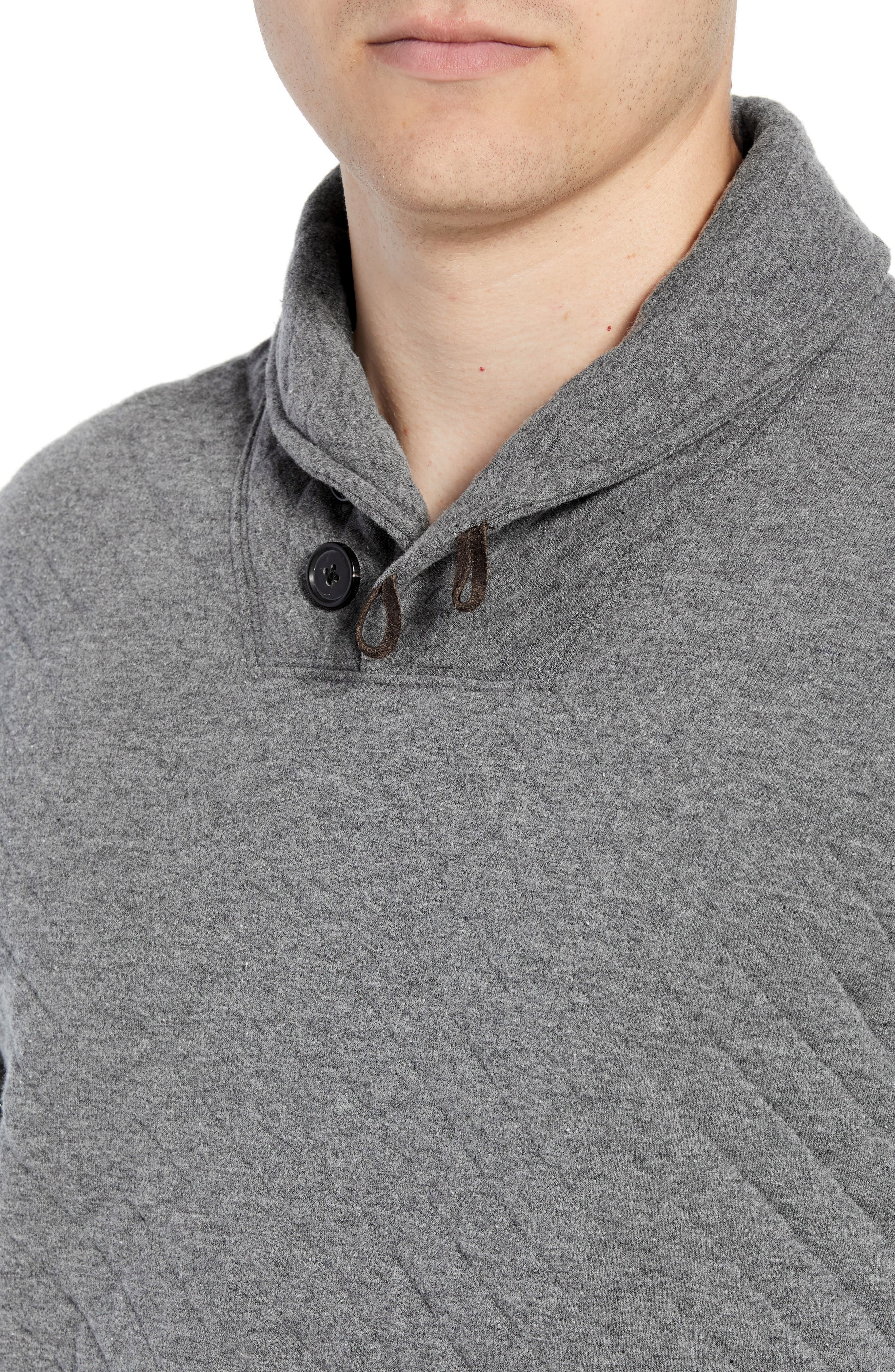 Shawl Collar Pullover,                             Alternate thumbnail 4, color,                             MEDIUM GREY