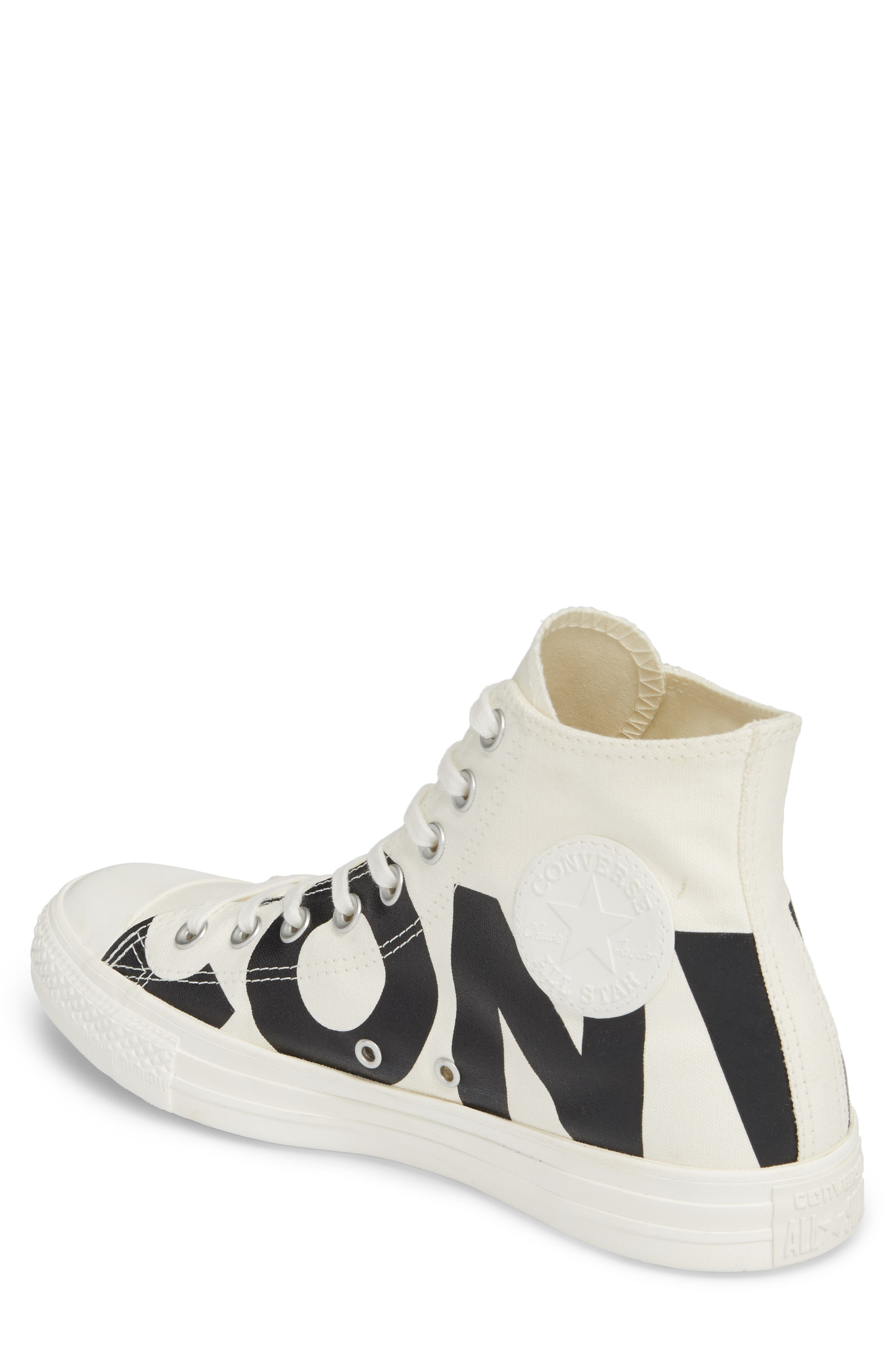 One Star Wordmark High Top Sneaker,                             Alternate thumbnail 2, color,                             001