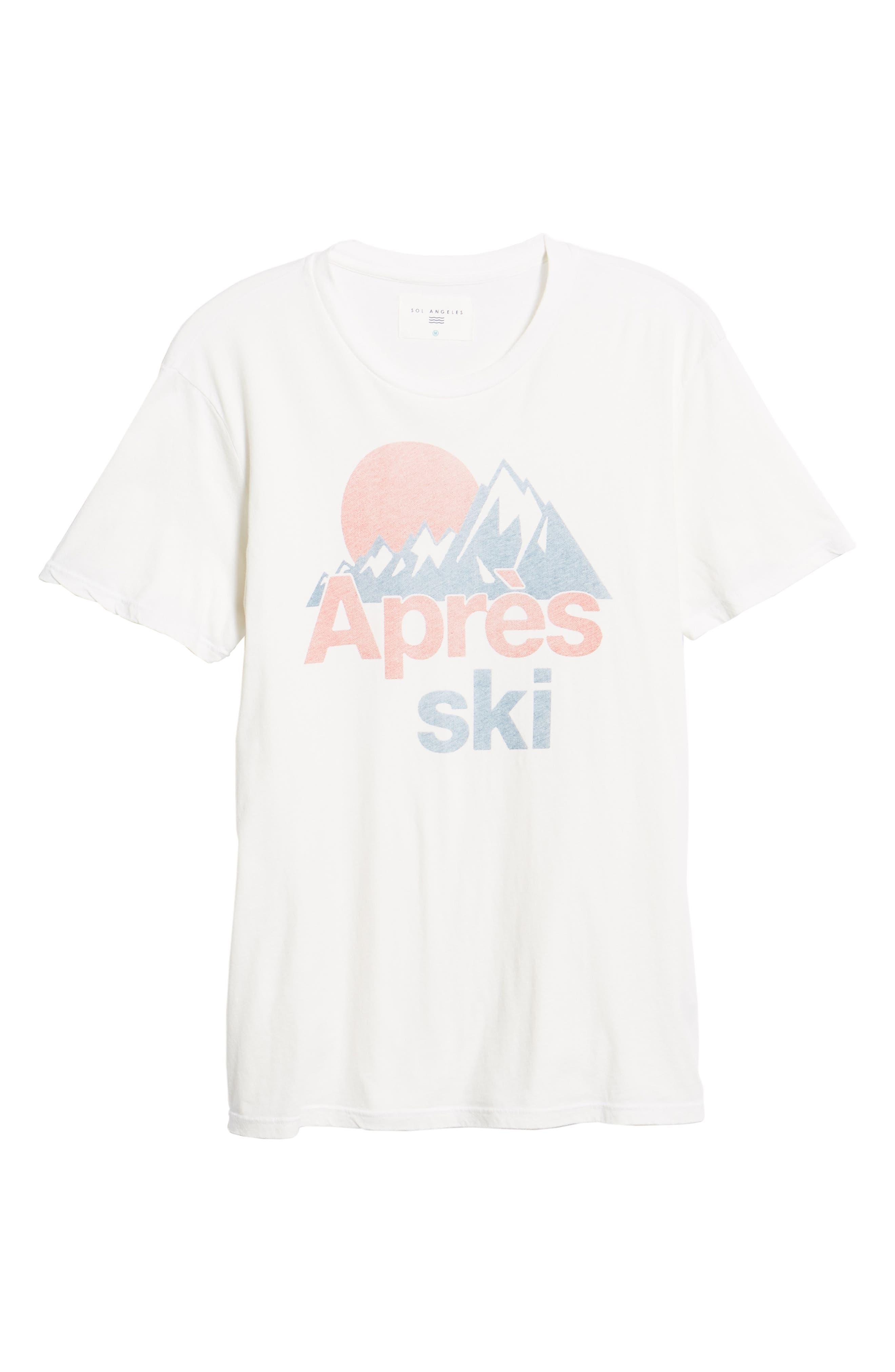 Après Ski Graphic T-Shirt,                             Alternate thumbnail 6, color,                             100