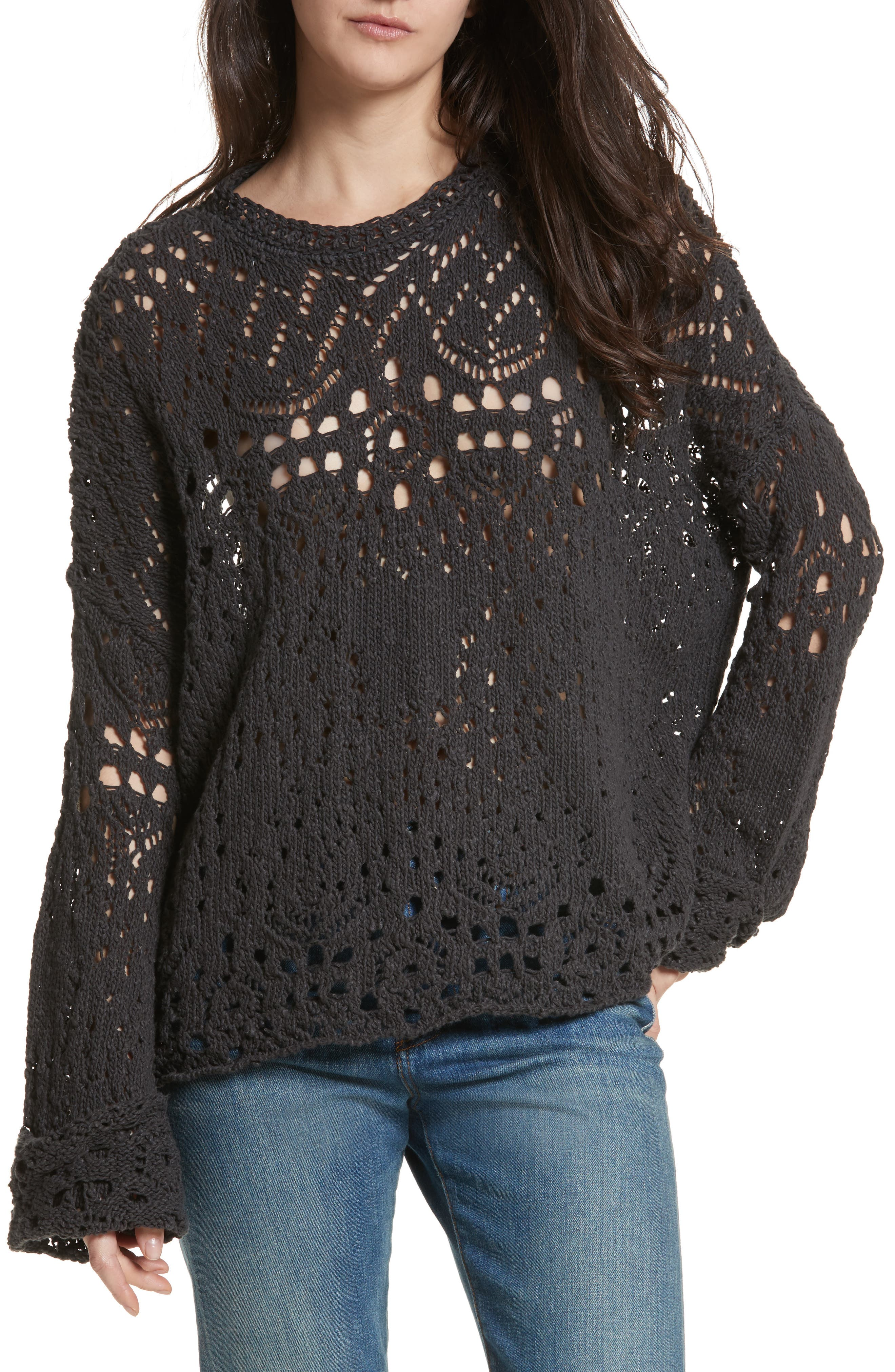 Traveling Lace Sweater,                             Main thumbnail 1, color,                             009